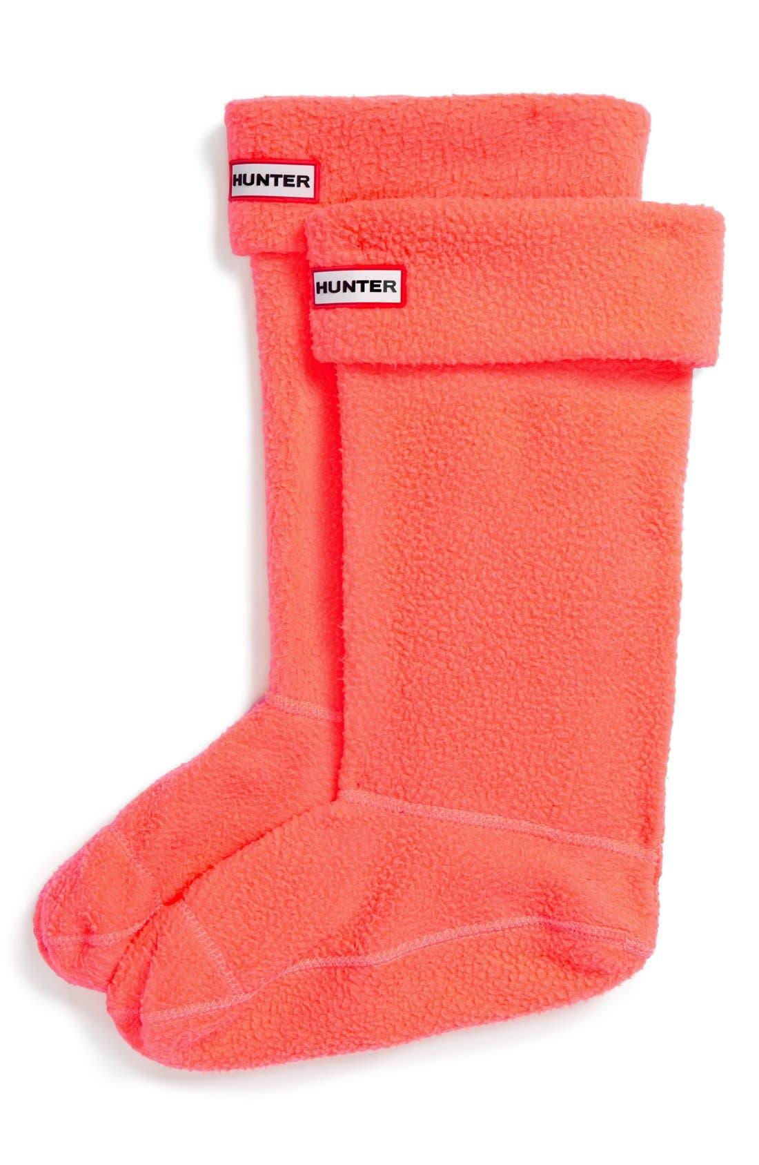 Alternate Image 1 Selected - Hunter Neon Fleece Welly Socks (Women)
