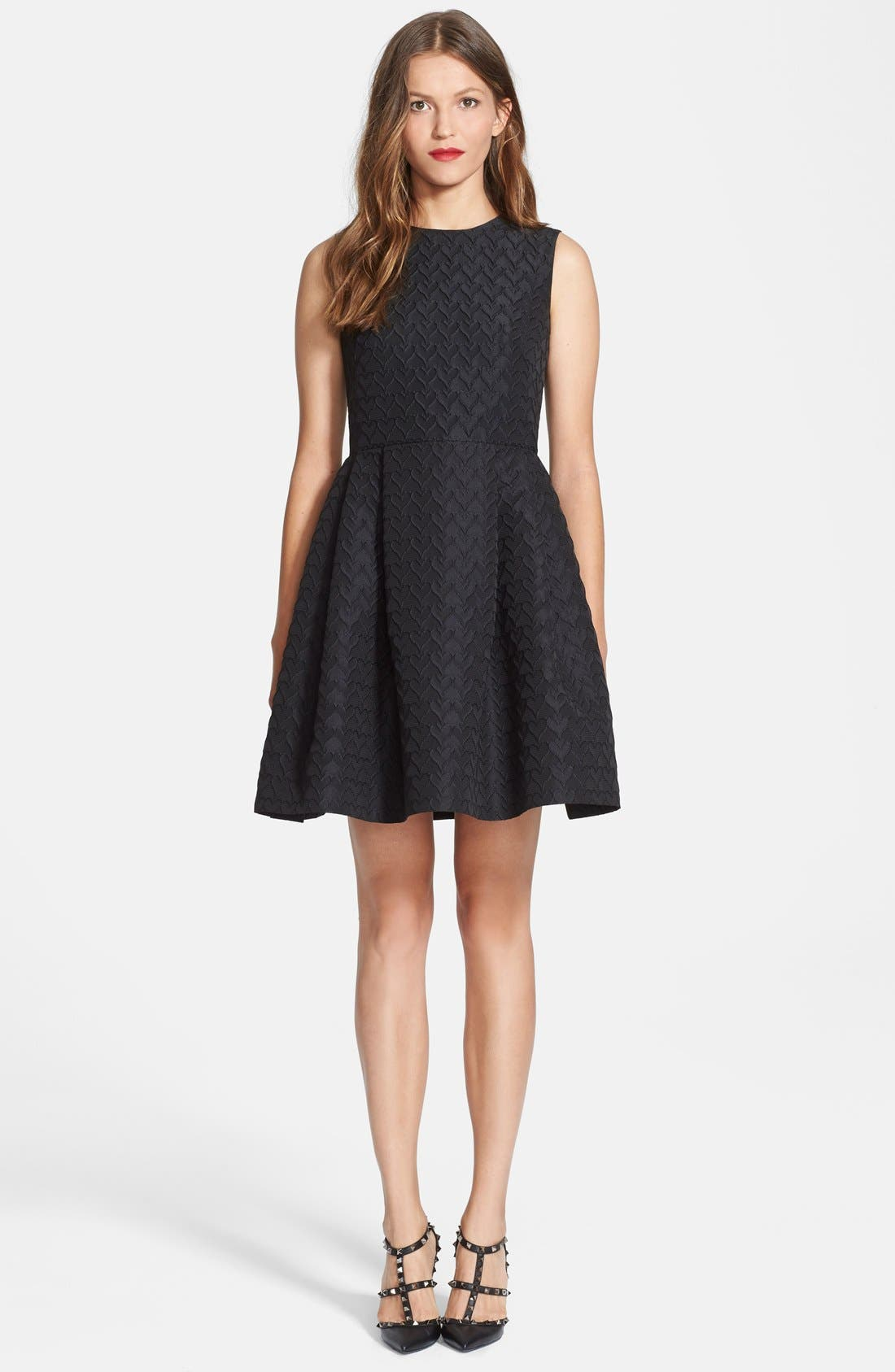 Main Image - RED Valentino Jacquard Faille Fit & Flare Dress