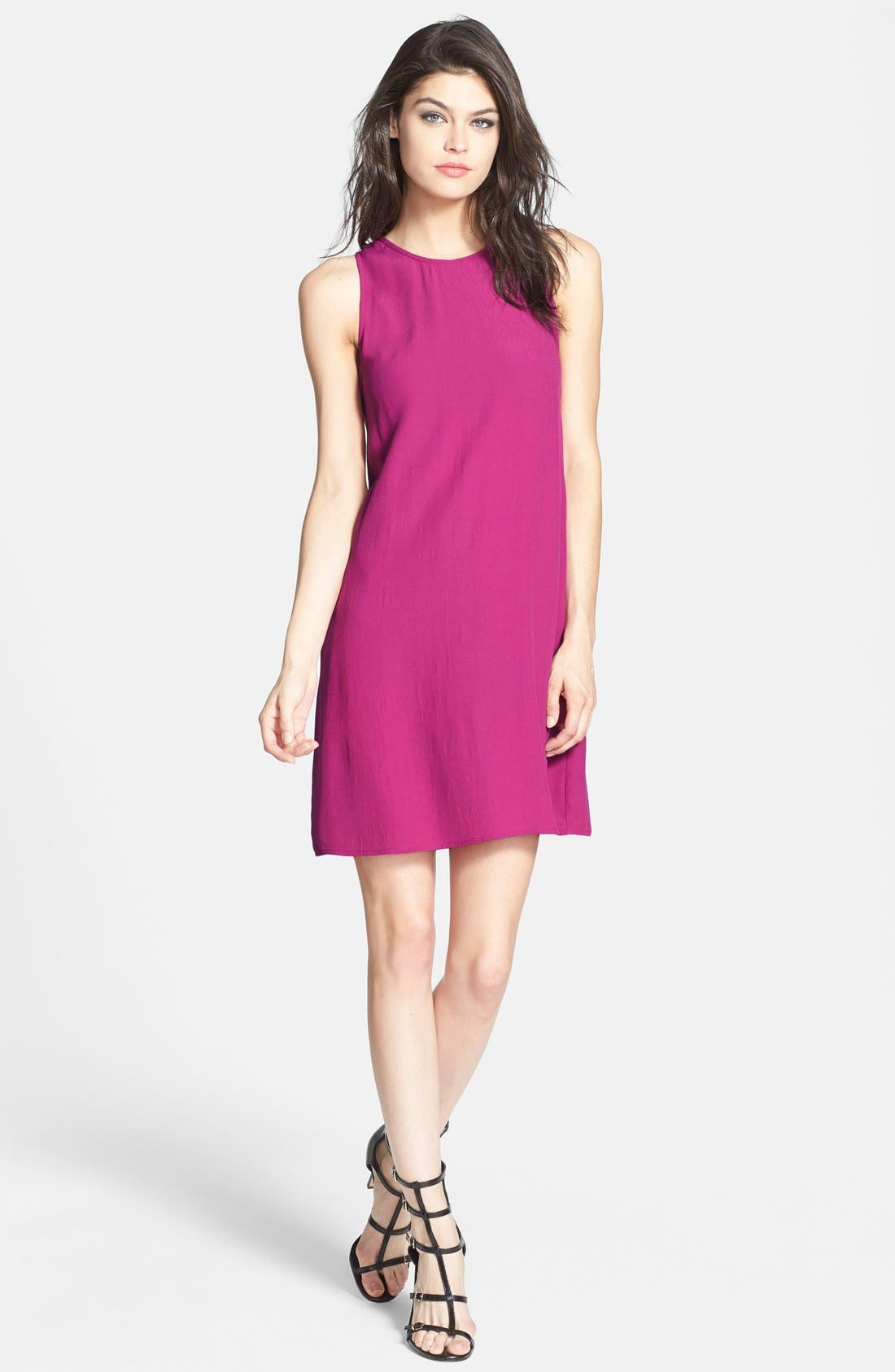 Main Image - Wayf Sleeveless Crepe Shift Dress