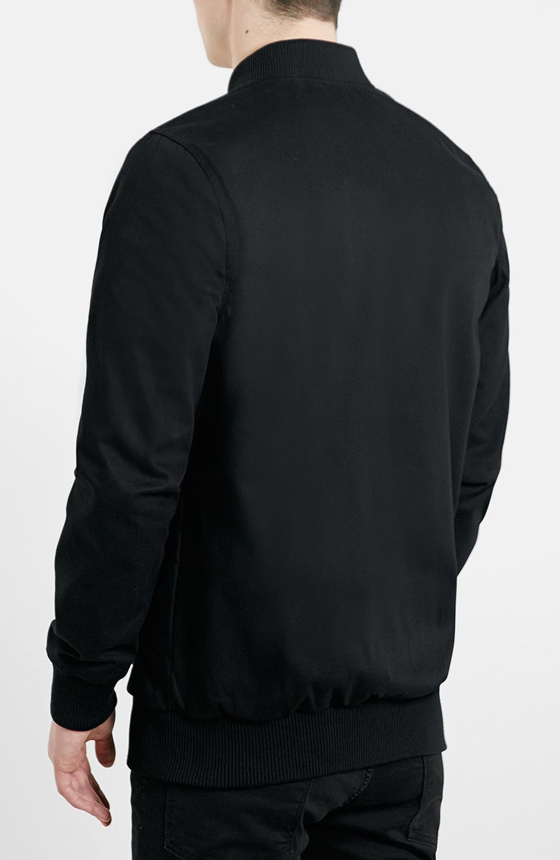 Alternate Image 2  - Topman Longline Lightweight Twill Bomber Jacket