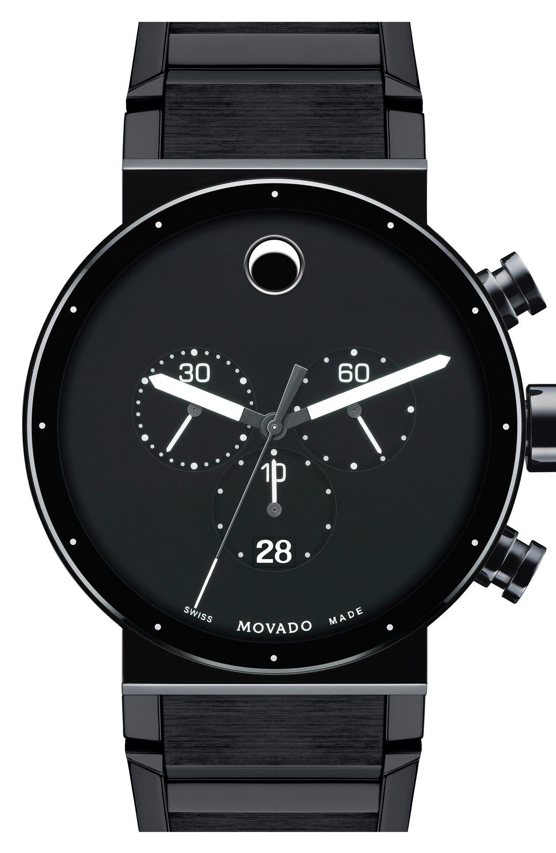 Alternate Image 1 Selected - Movado 'Sapphire Synergy' Chronograph Bracelet Watch, 42mm