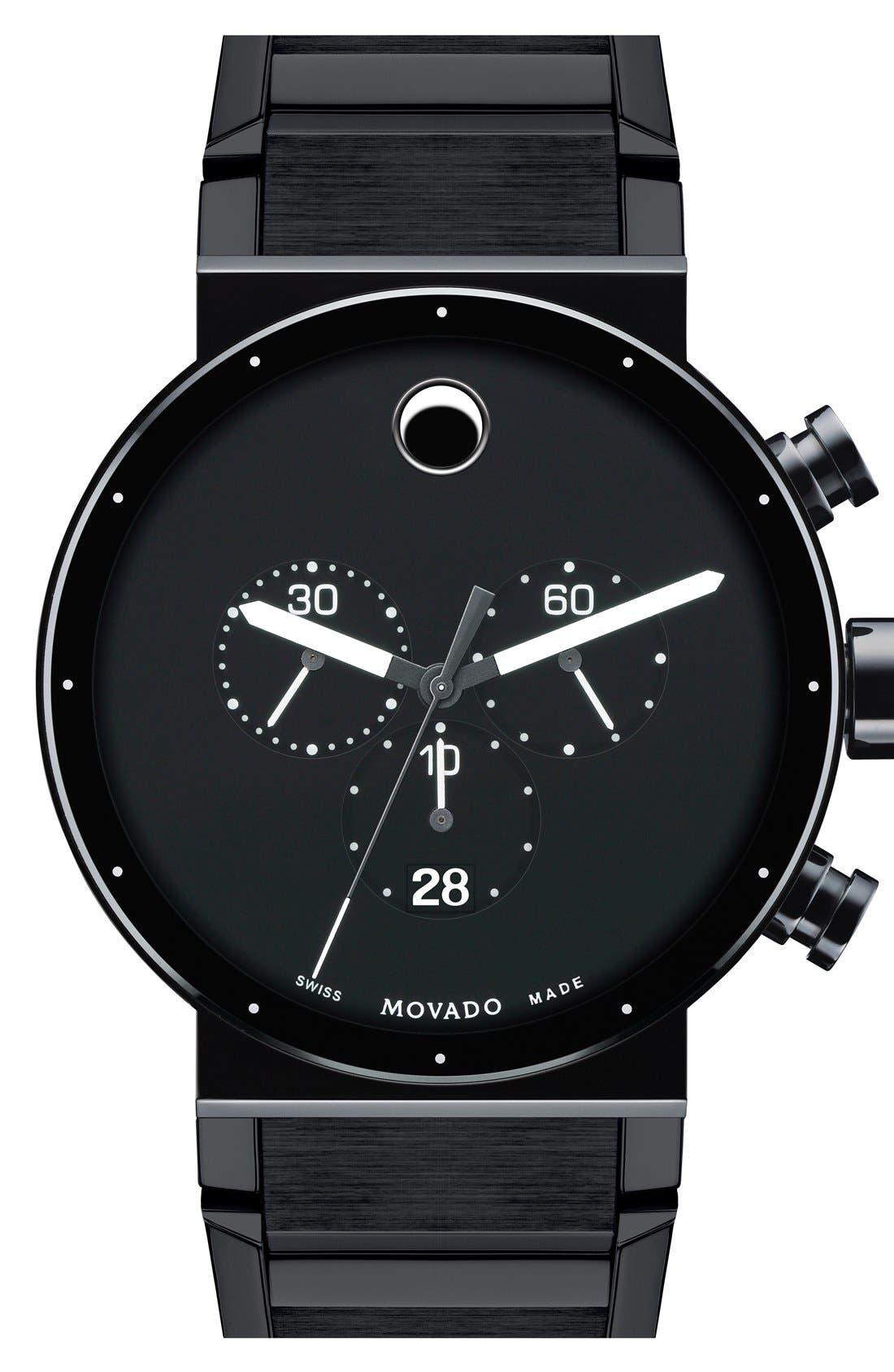 'Sapphire Synergy' Chronograph Bracelet Watch, 42mm,                         Main,                         color, Black