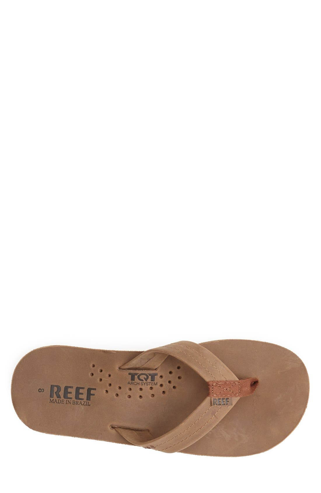 Alternate Image 3  - Reef 'Draftsmen' Leather Flip Flop (Men)