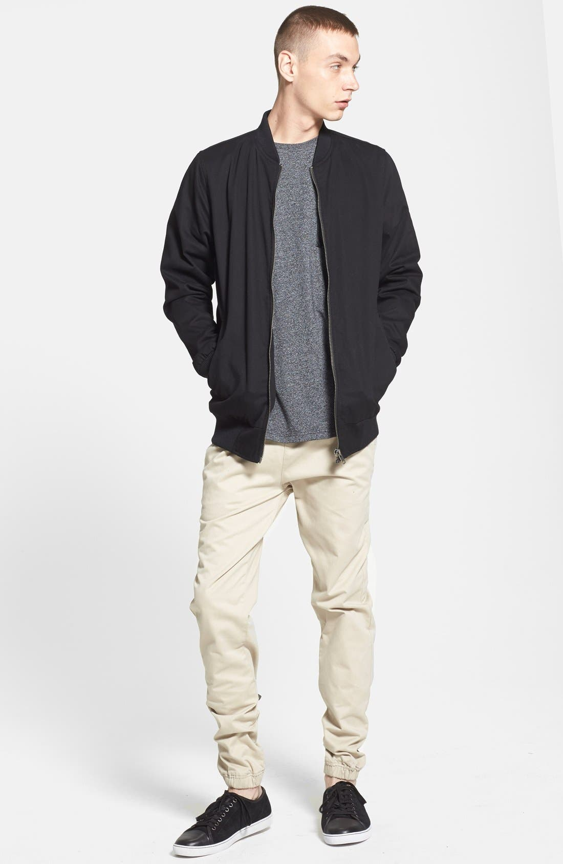 Alternate Image 5  - Topman Longline Lightweight Twill Bomber Jacket