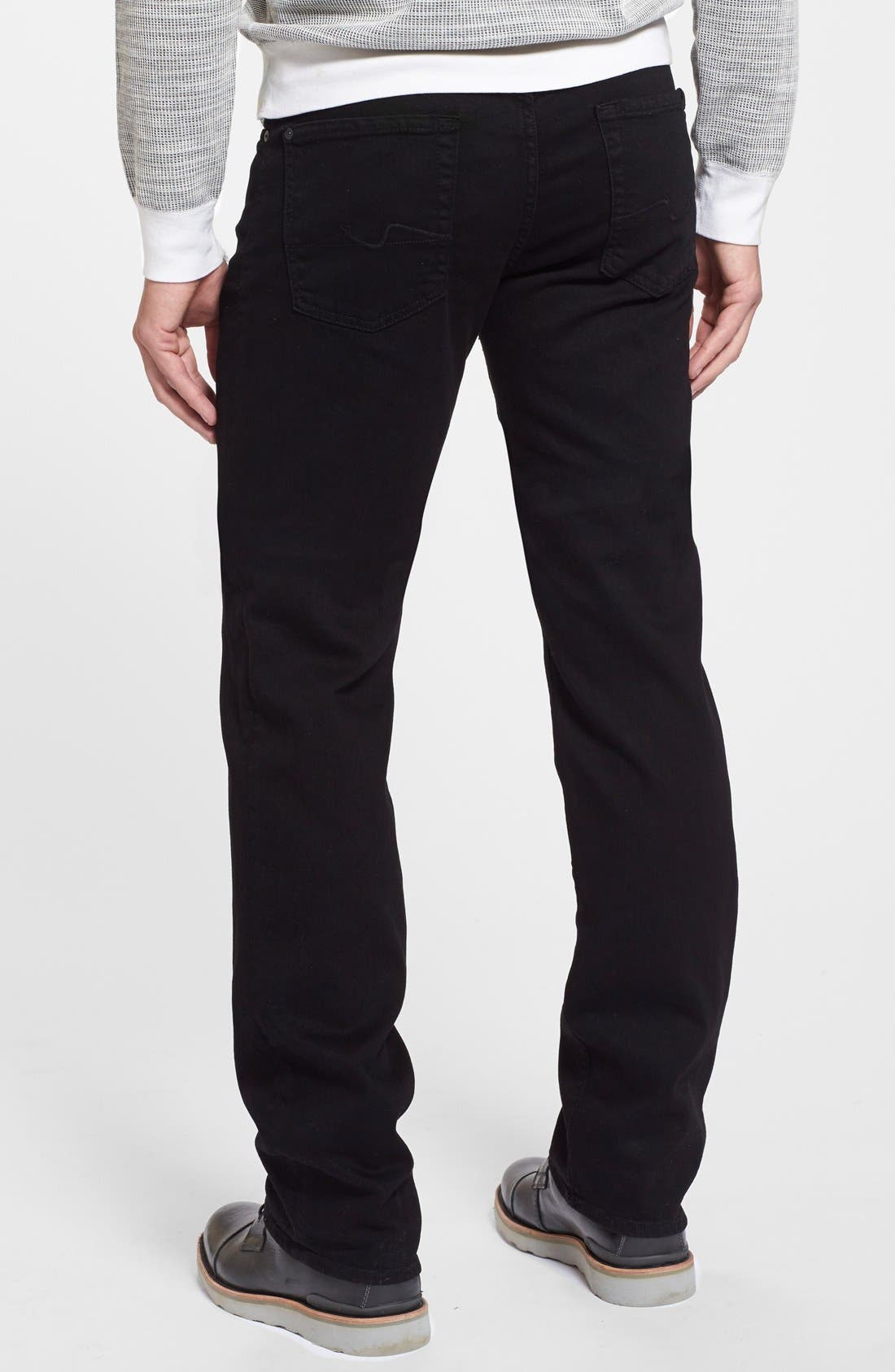 Alternate Image 2  - 7 For All Mankind® The Standard - Luxe Performance Straight Leg Jeans (Nightshade Black)