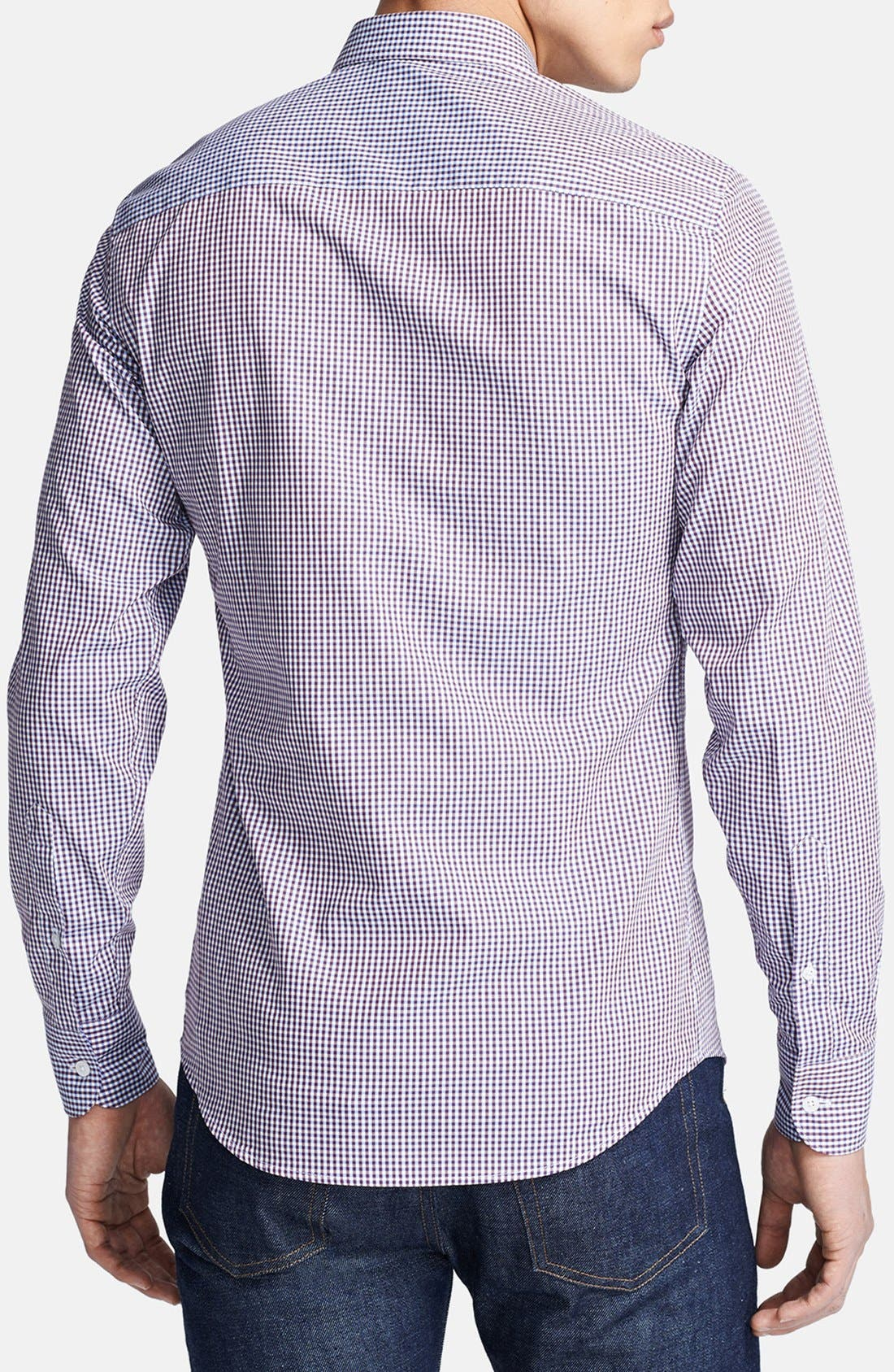 Alternate Image 2  - Z Zegna Microcheck Sport Shirt