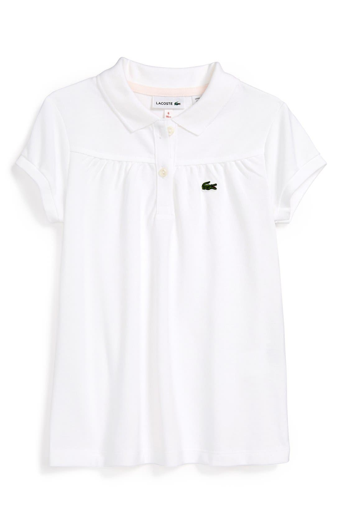 Alternate Image 1 Selected - Lacoste Piqué Polo (Little Girls)