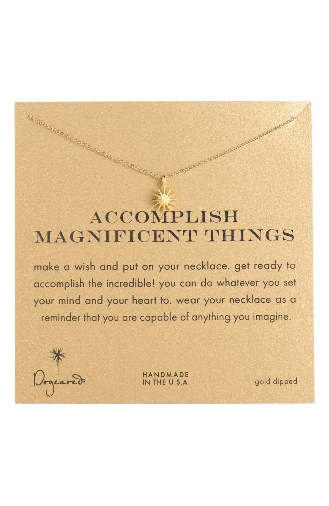 Alternate Image 1 Selected - Dogeared 'Accomplish Magnificent Things' Pendant Necklace