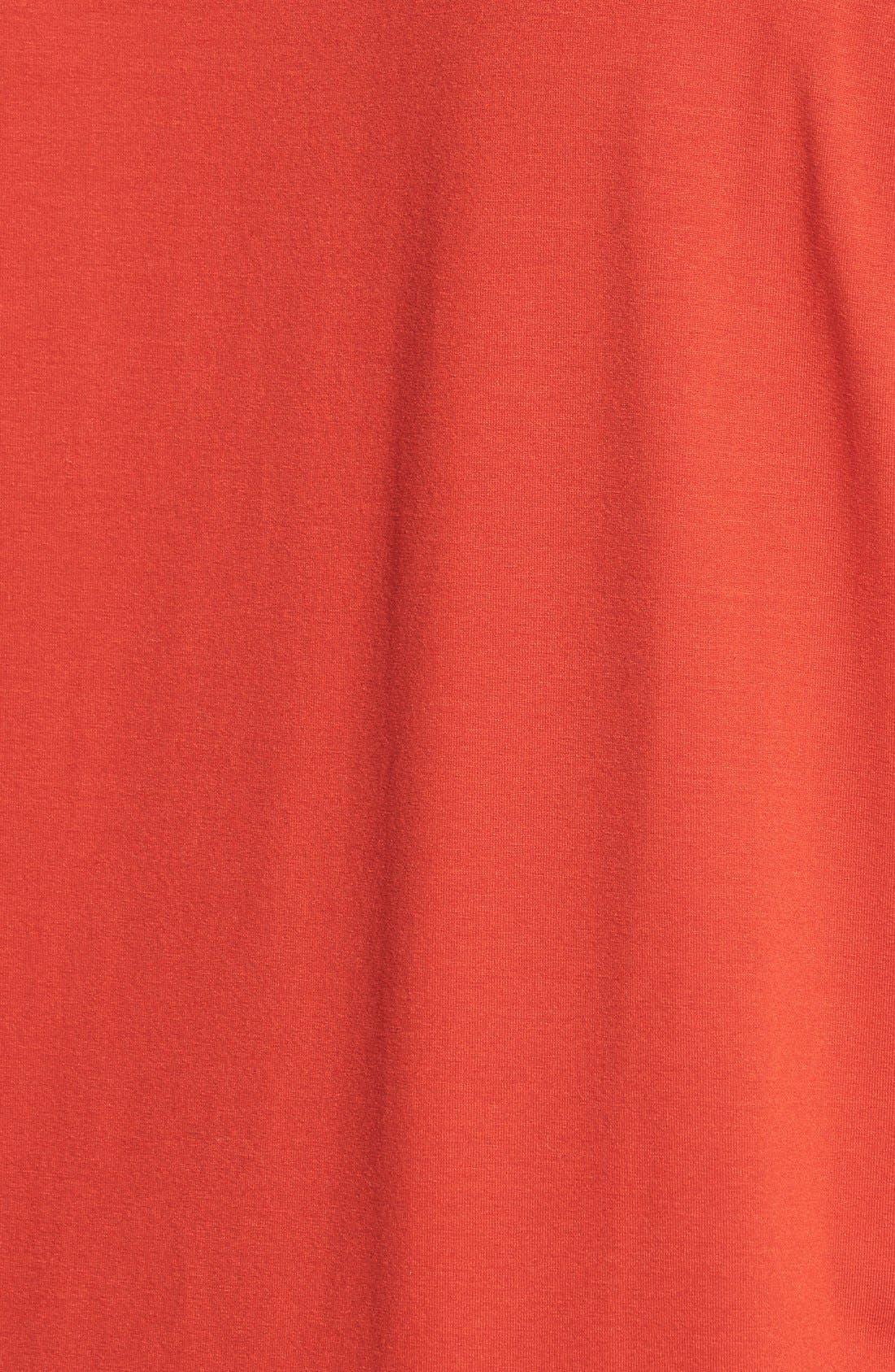 Alternate Image 3  - Eileen Fisher V-Neck Asymmetric Jersey Top (Plus Size)