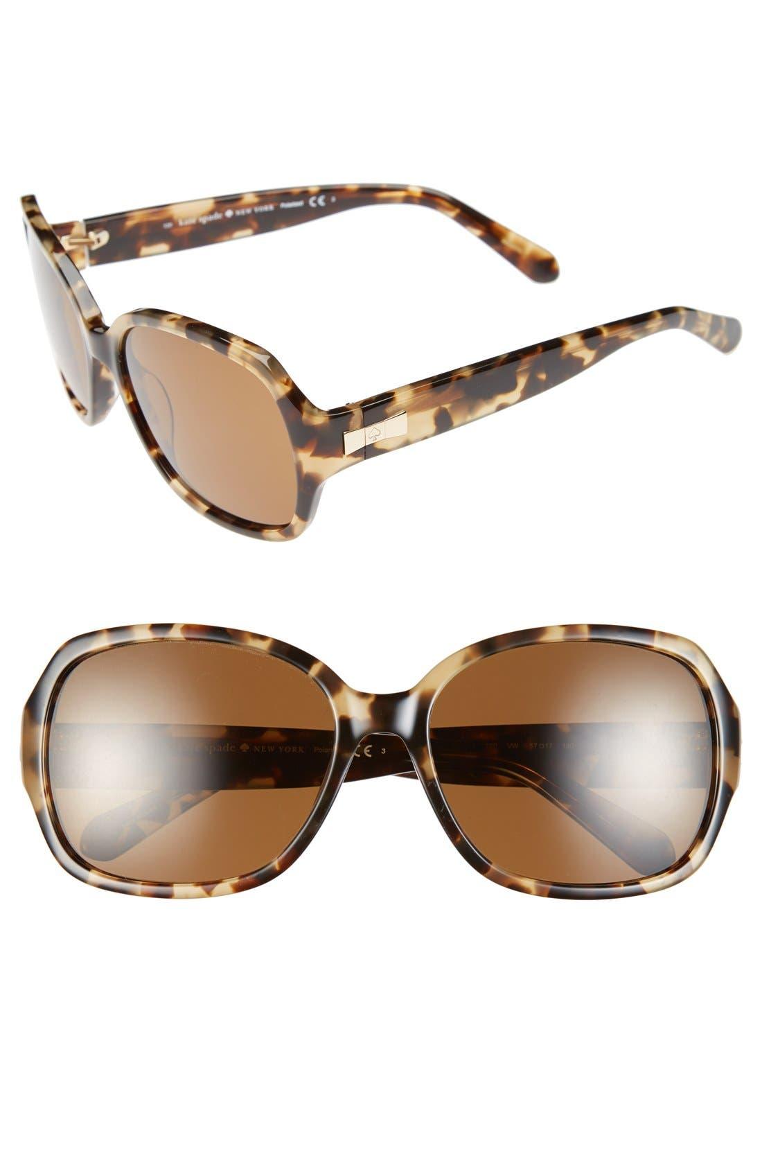 Main Image - kate spade new york laney 57mm polarized sunglasses
