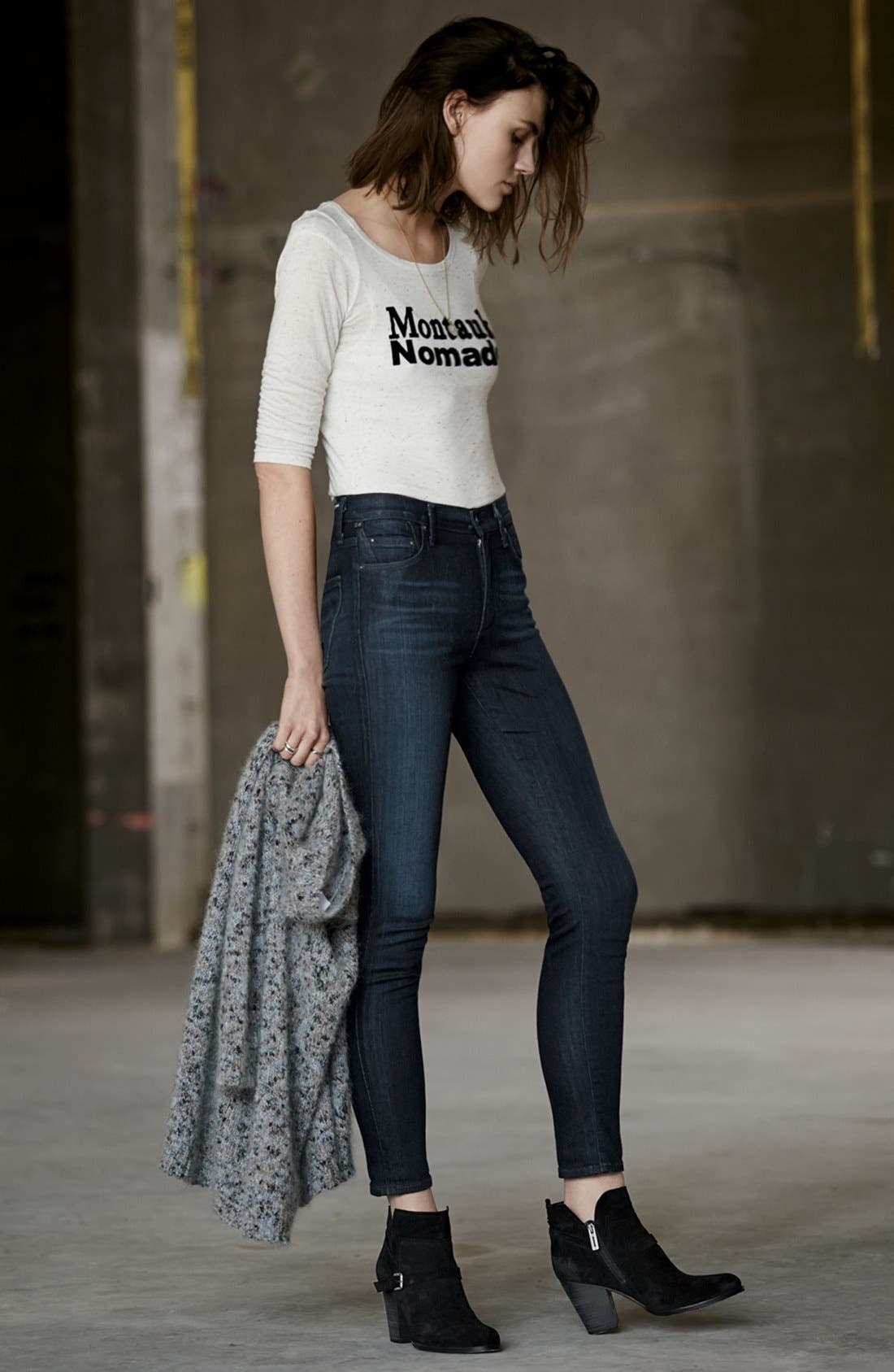 Alternate Image 4  - Citizens of Humanity 'Rocket' High Rise Skinny Jeans (Space)