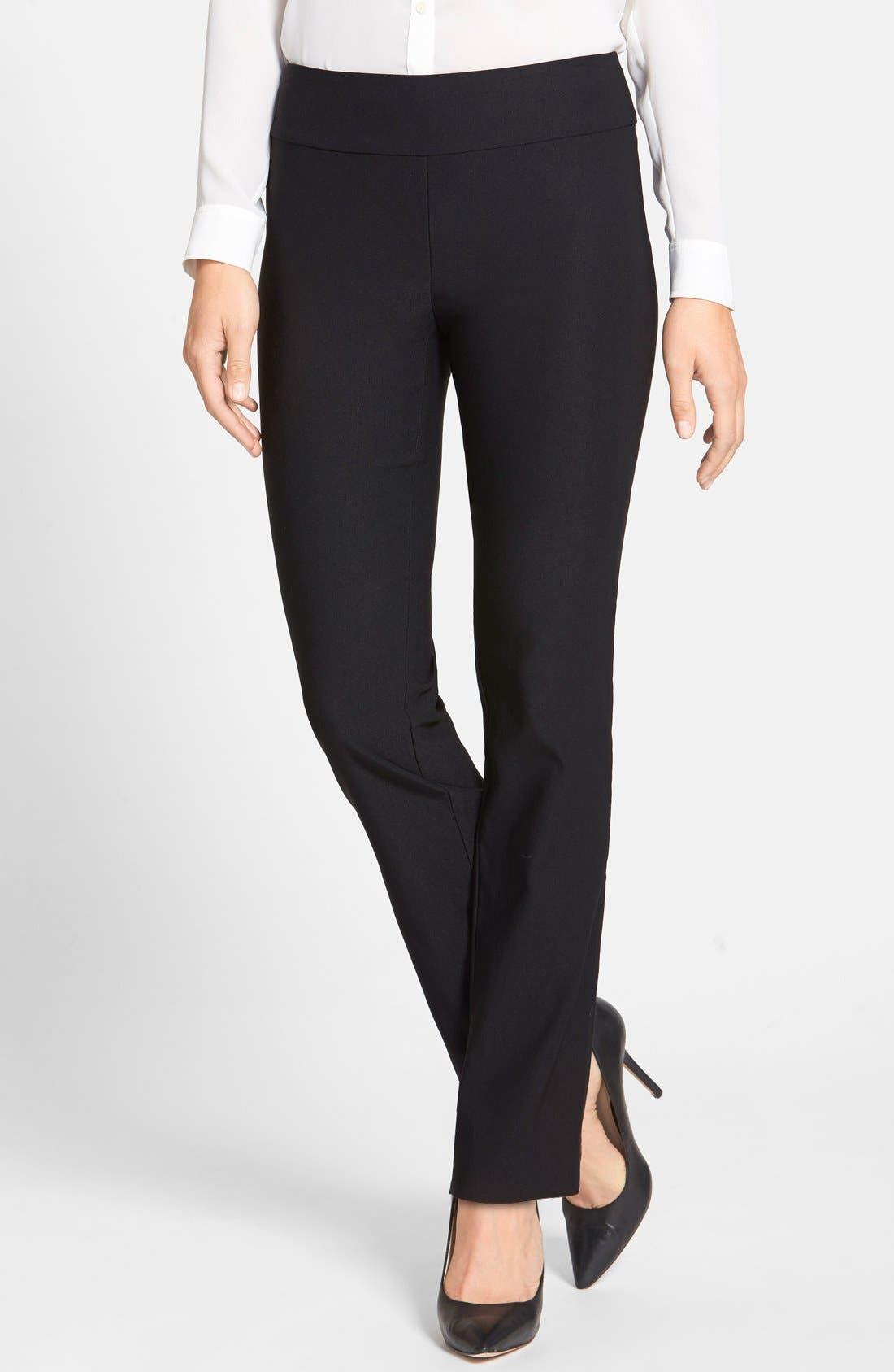 'The Wonder Stretch' Straight Leg Pants,                         Main,                         color, Black Onyx