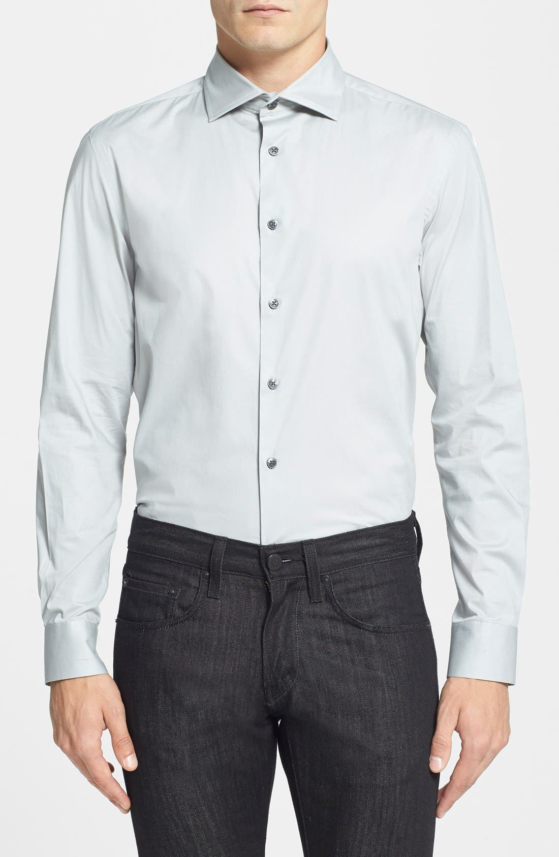 Alternate Image 1 Selected - Kenneth Cole Collection Trim Fit Stretch Woven Sport Shirt