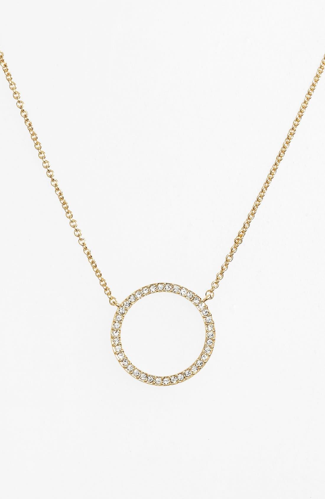 Circle Pendant Necklace,                             Main thumbnail 1, color,                             Gold