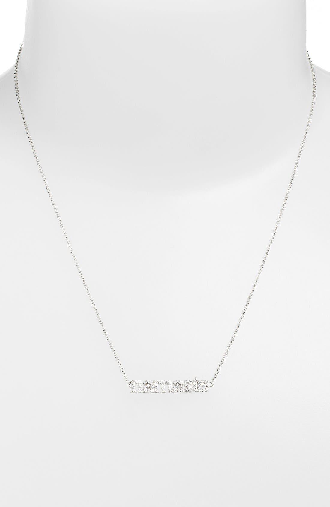 Main Image - Sugar Bean Jewelry 'Namaste' Pendant Necklace