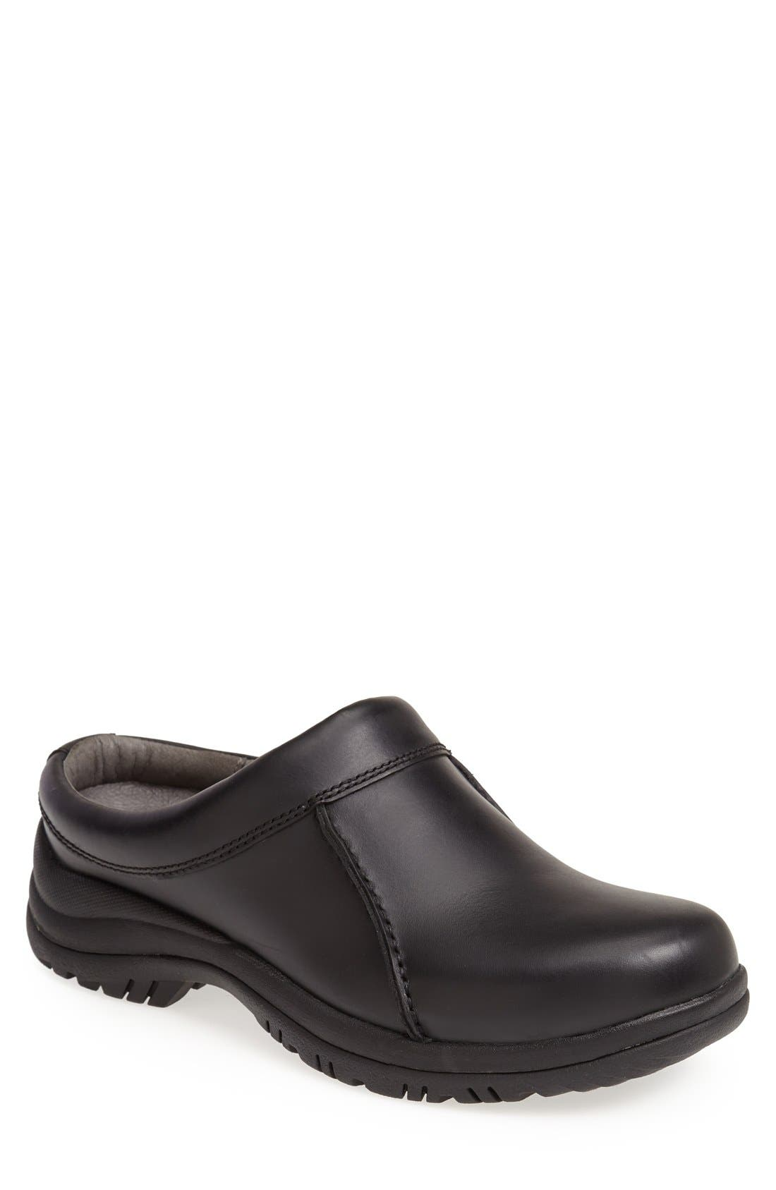 'Wil' Slip-On,                         Main,                         color, Black Smooth