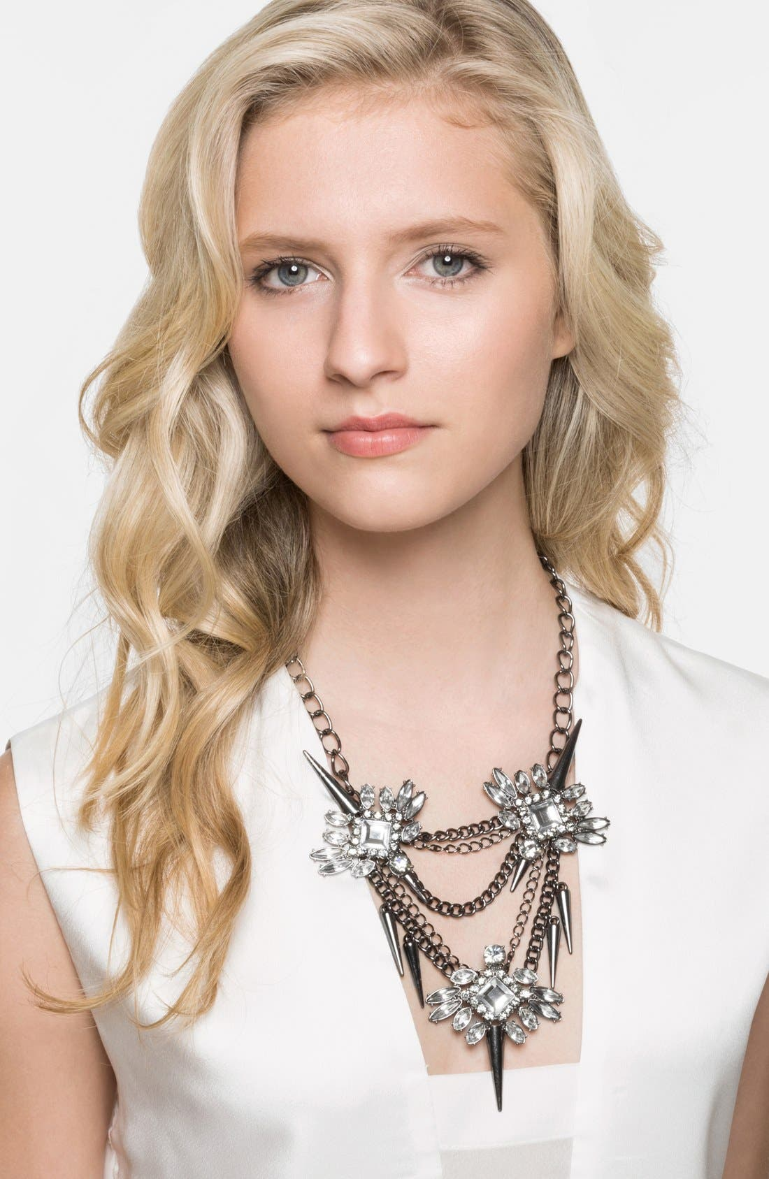 Alternate Image 2  - BaubleBar 'Spiked Lily' Frontal Necklace
