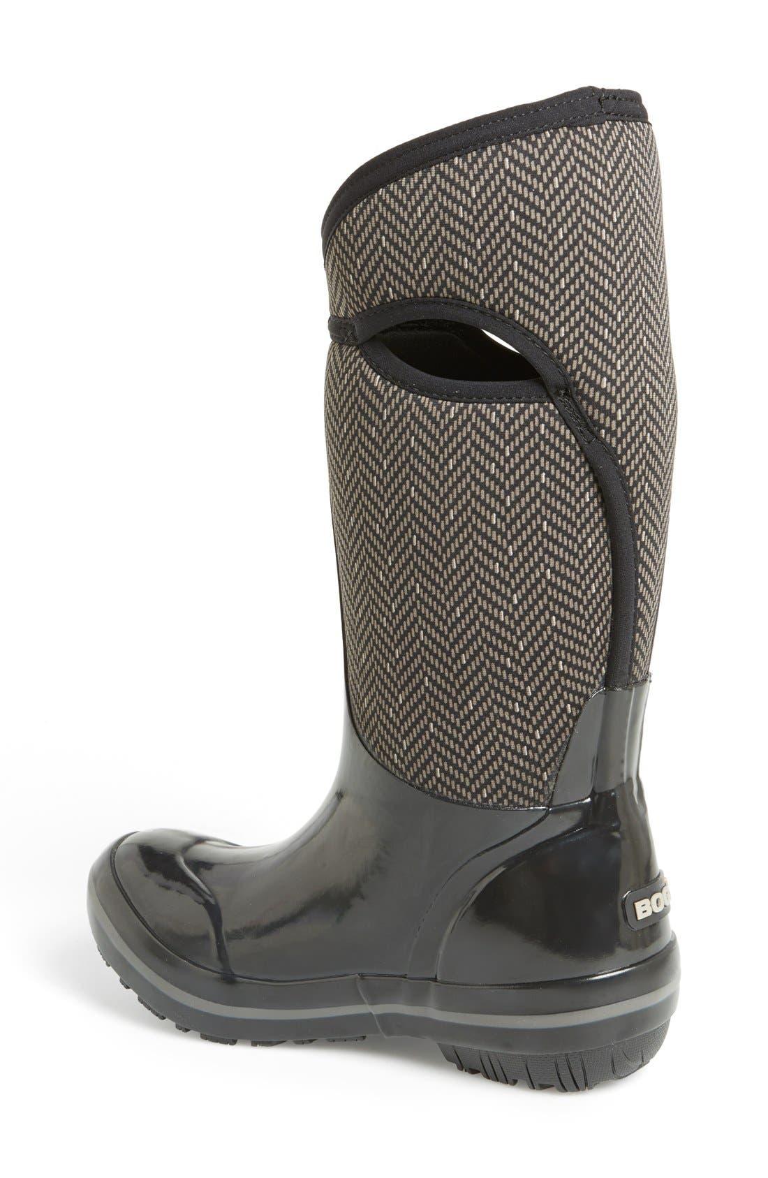 Alternate Image 2  - Bogs Plimsoll  - Herringbone Waterproof Boot (Women)