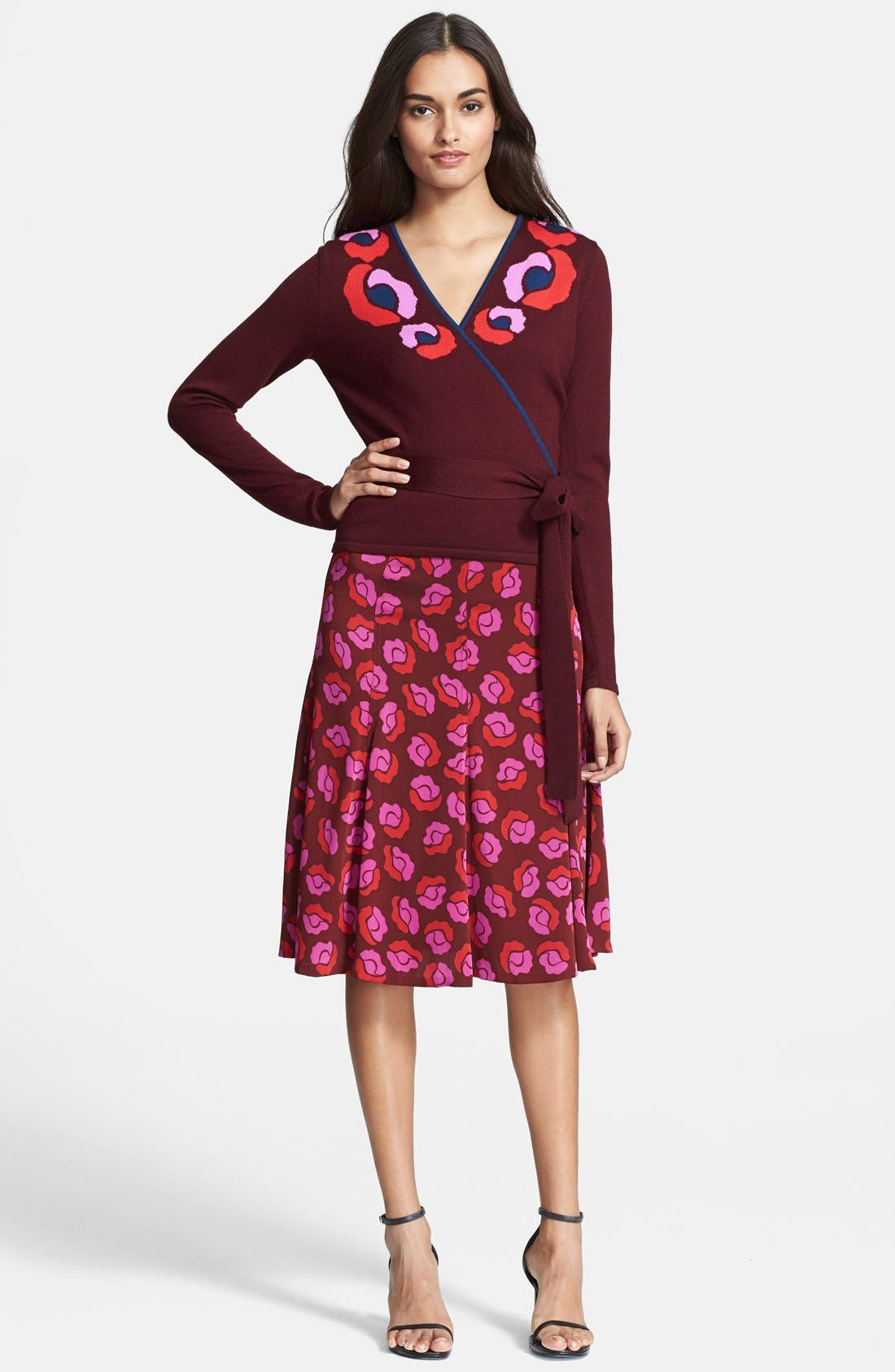 Alternate Image 1 Selected - Diane von Furstenberg 'Ballerina' Long Sleeve Sweater