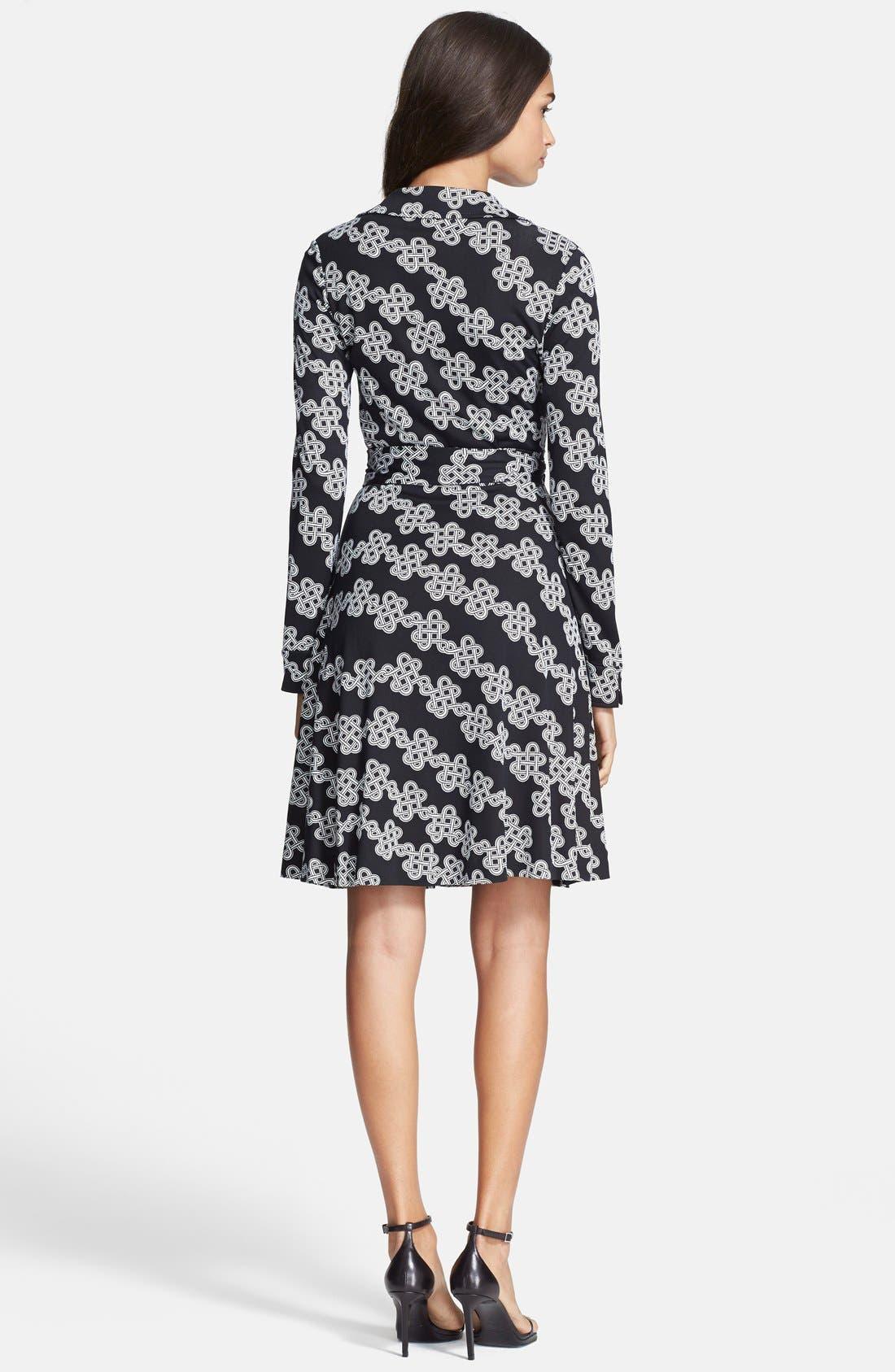 Alternate Image 2  - Diane von Furstenberg Print Silk Jersey Wrap Dress