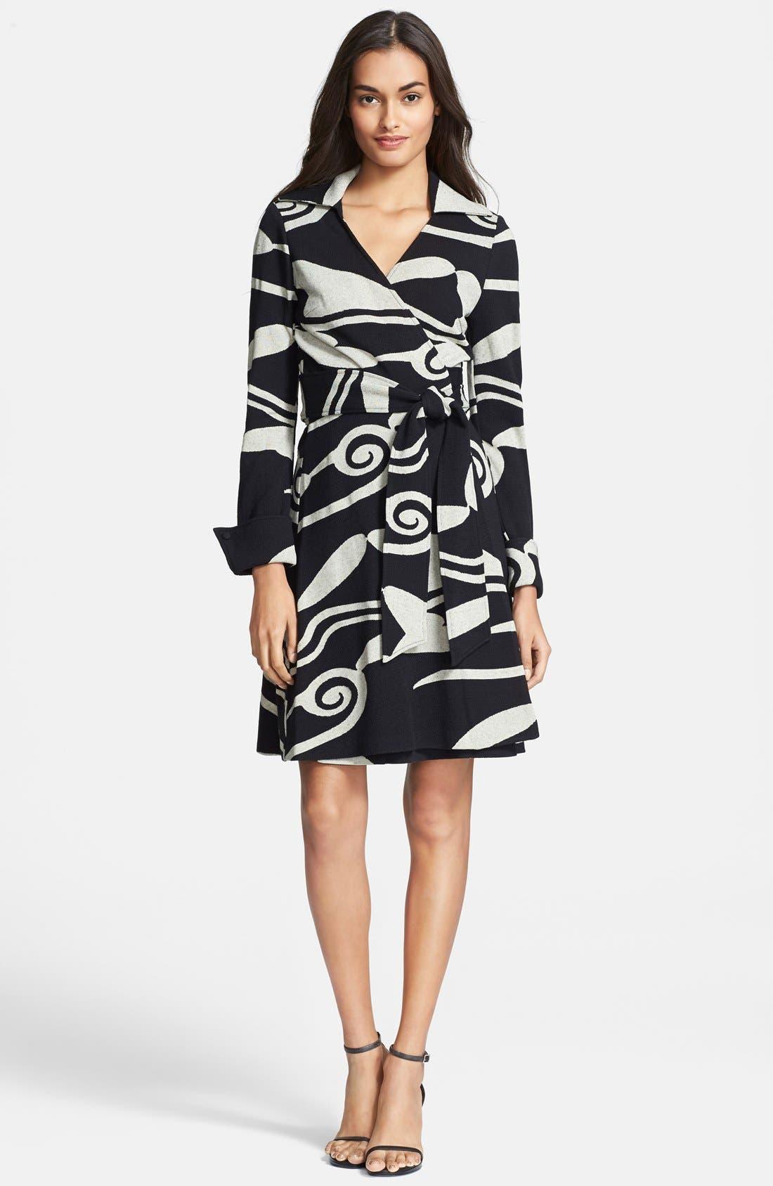 Alternate Image 1 Selected - Diane von Furstenberg Knit Wrap Dress
