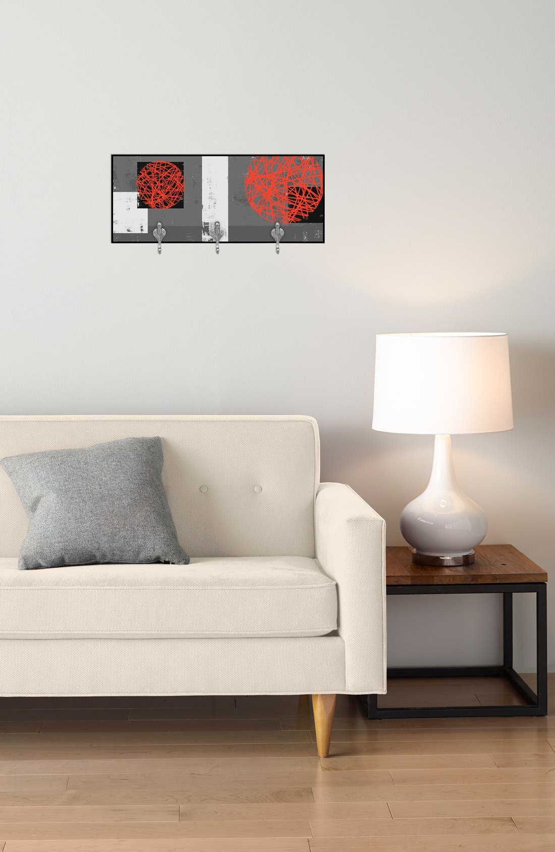 Alternate Image 2  - Green Leaf Art 'Red Composition' Decorative Wall Hooks