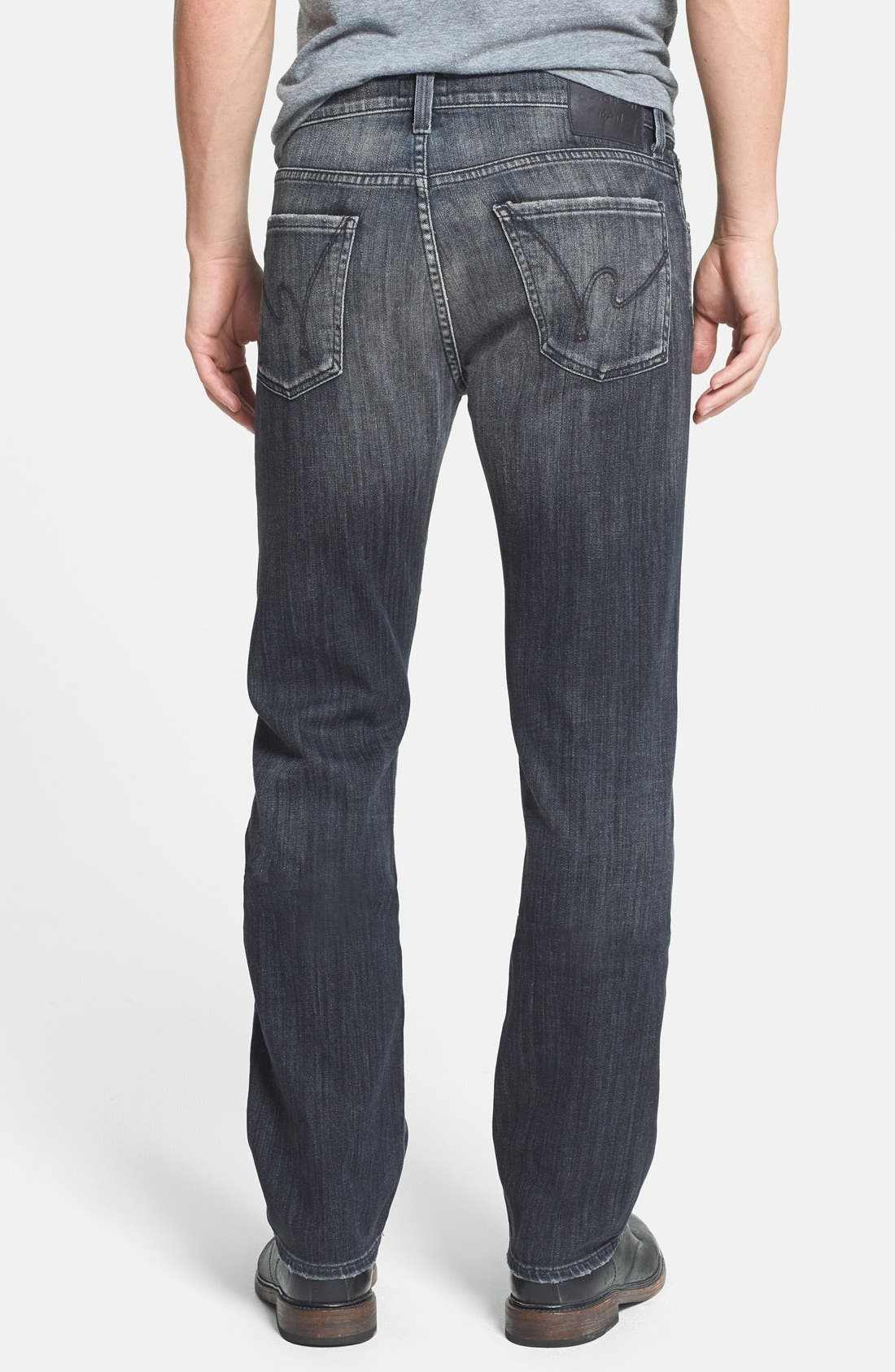 'Sid' Classic Straight Leg Jeans,                             Alternate thumbnail 2, color,                             Crow