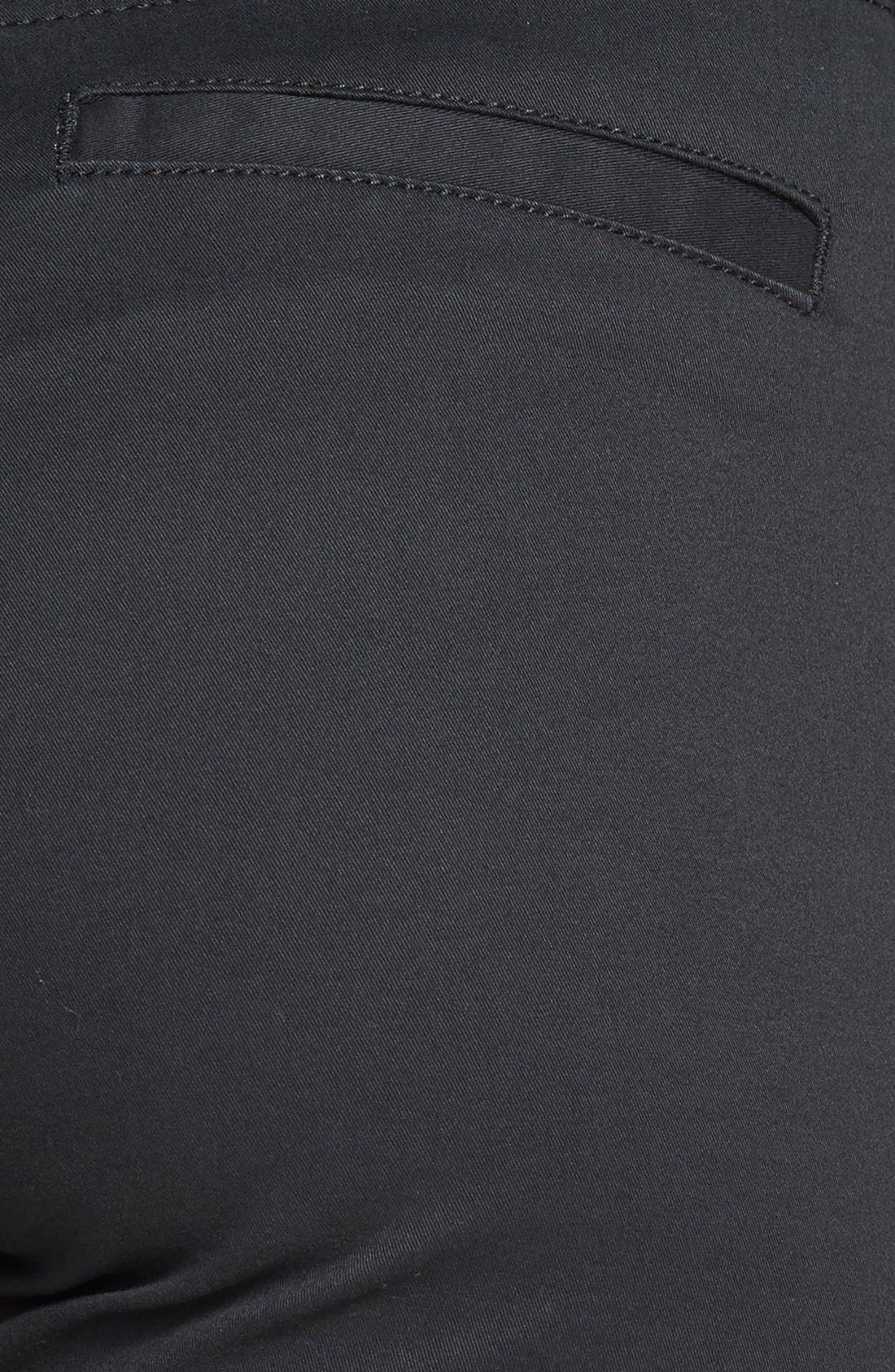'Rockin Betty' Quilt Detail Pants,                             Alternate thumbnail 3, color,                             Black