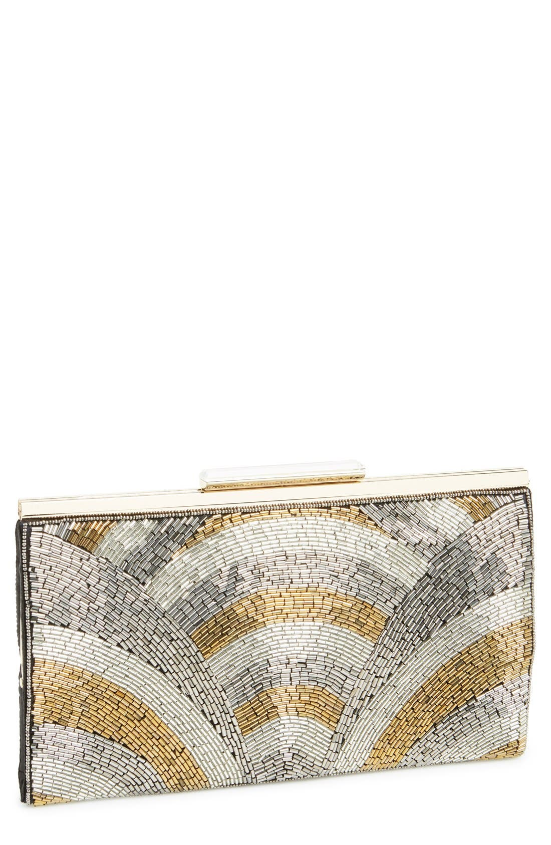 Alternate Image 1 Selected - Glint 'Deco' Crystal Topper Clutch