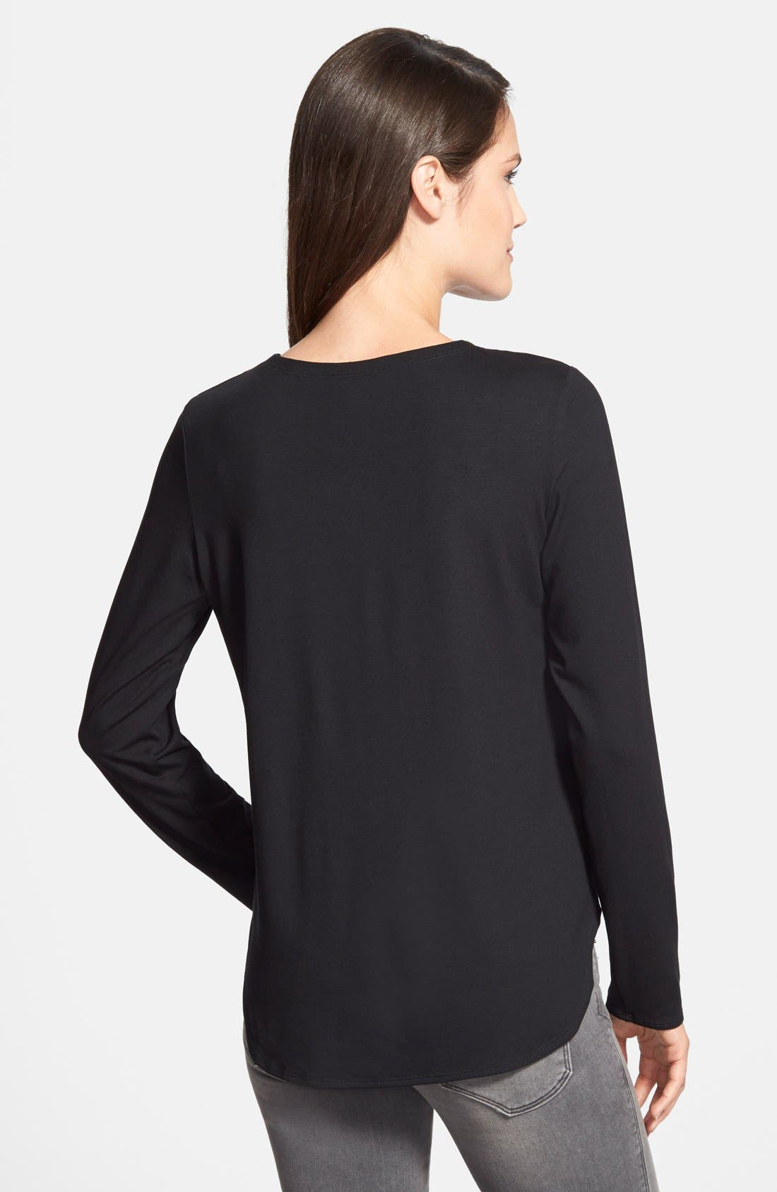 Alternate Image 2  - Eileen Fisher Crewneck Top (Regular & Petite)