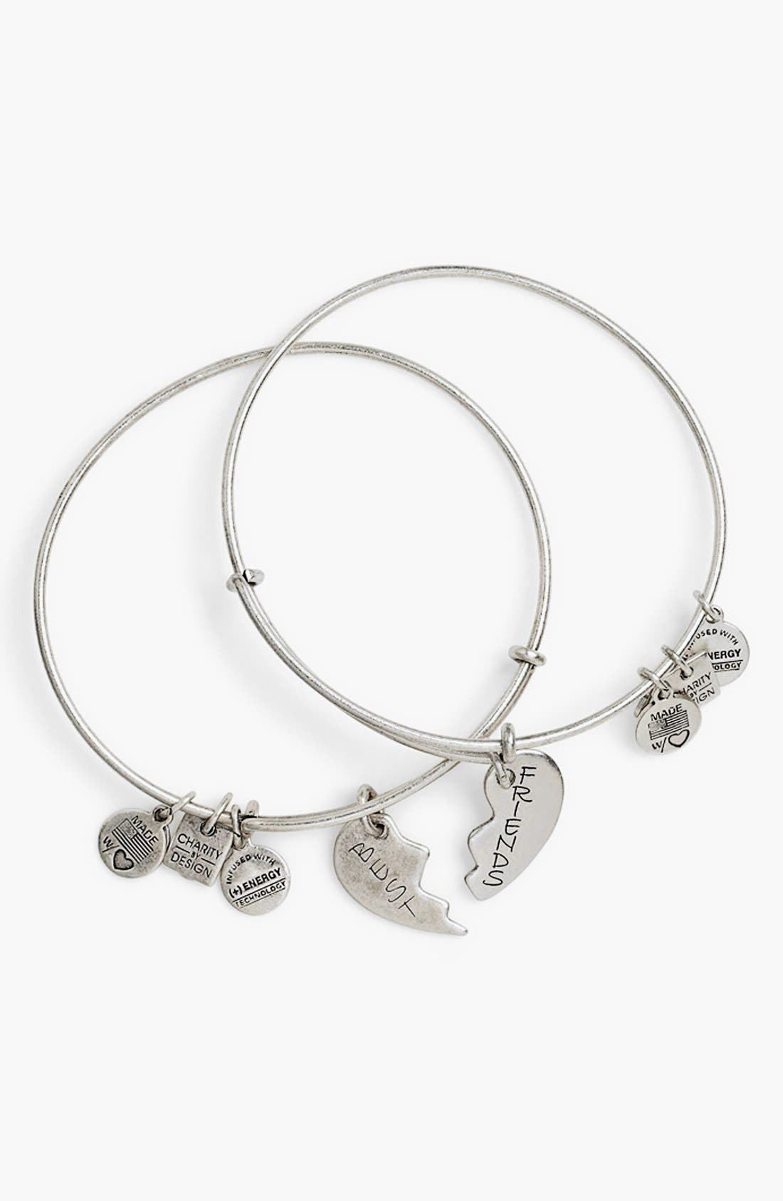 ALEX AND ANI Charity by Design - Best Friends Adjustable Wire Bangles
