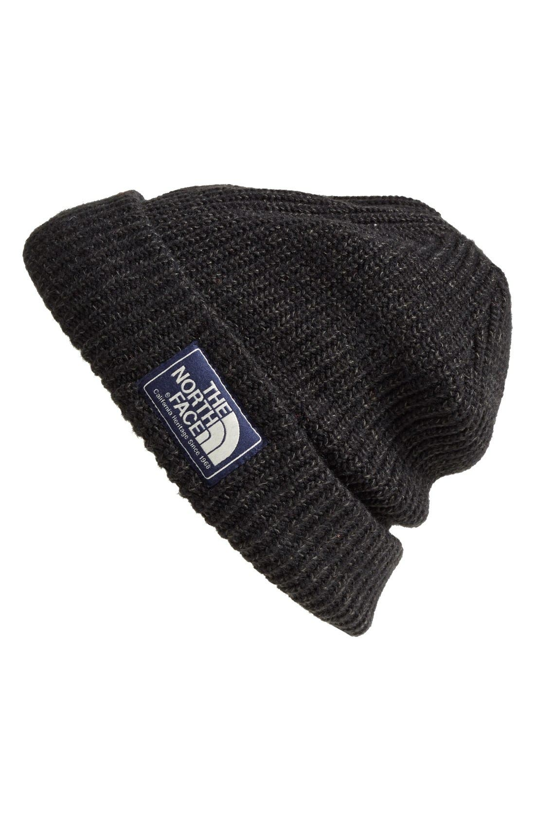 'Salty Dog' Beanie,                         Main,                         color, The North Face Black