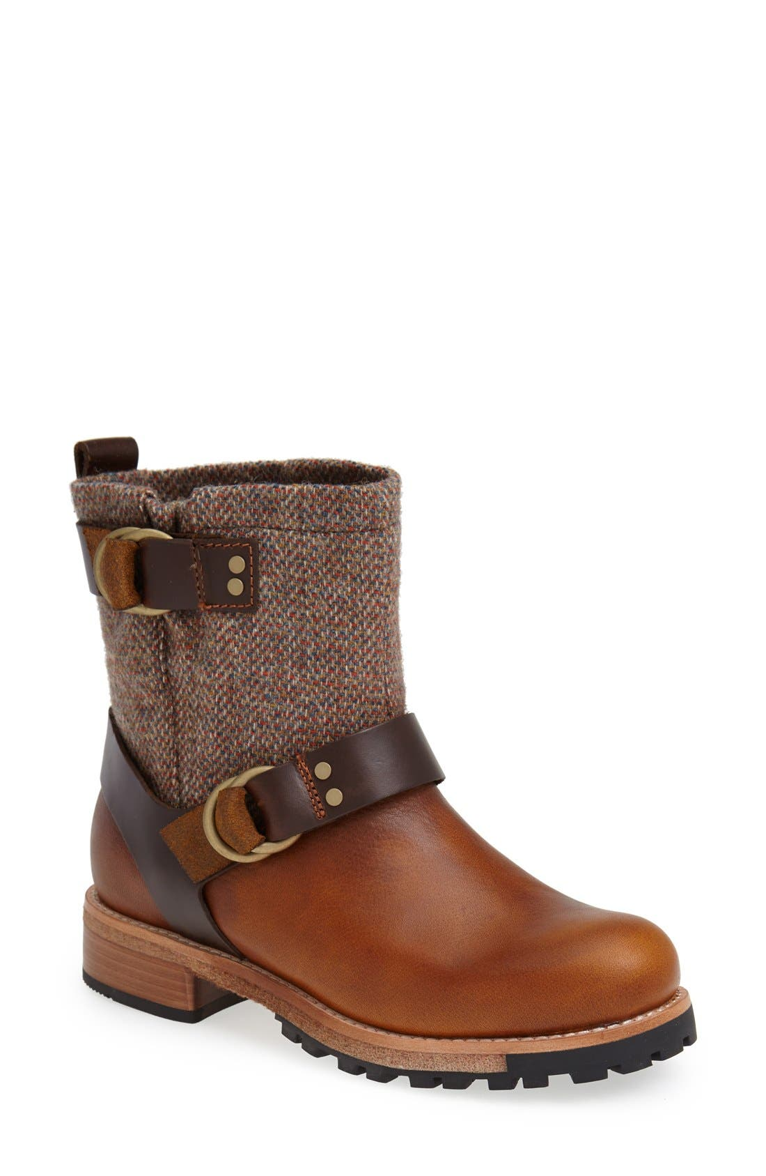 'Baltimore' Engineer Boot,                         Main,                         color, Light Brown