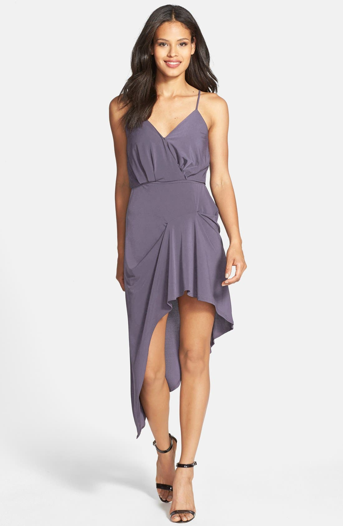 Main Image - BCBGeneration Pleated Matte Jersey High/Low Dress