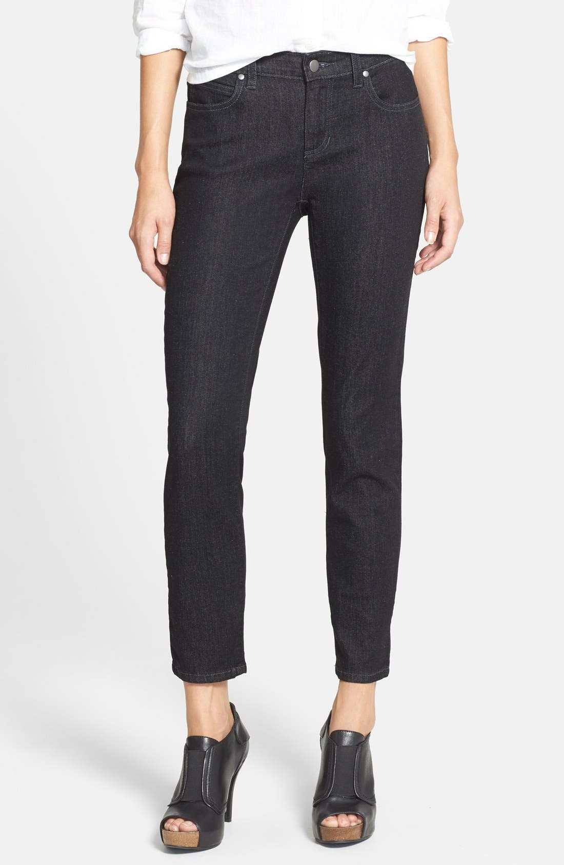 Main Image - Eileen Fisher Stretch Skinny Jeans (Regular & Petite) (Online Only)
