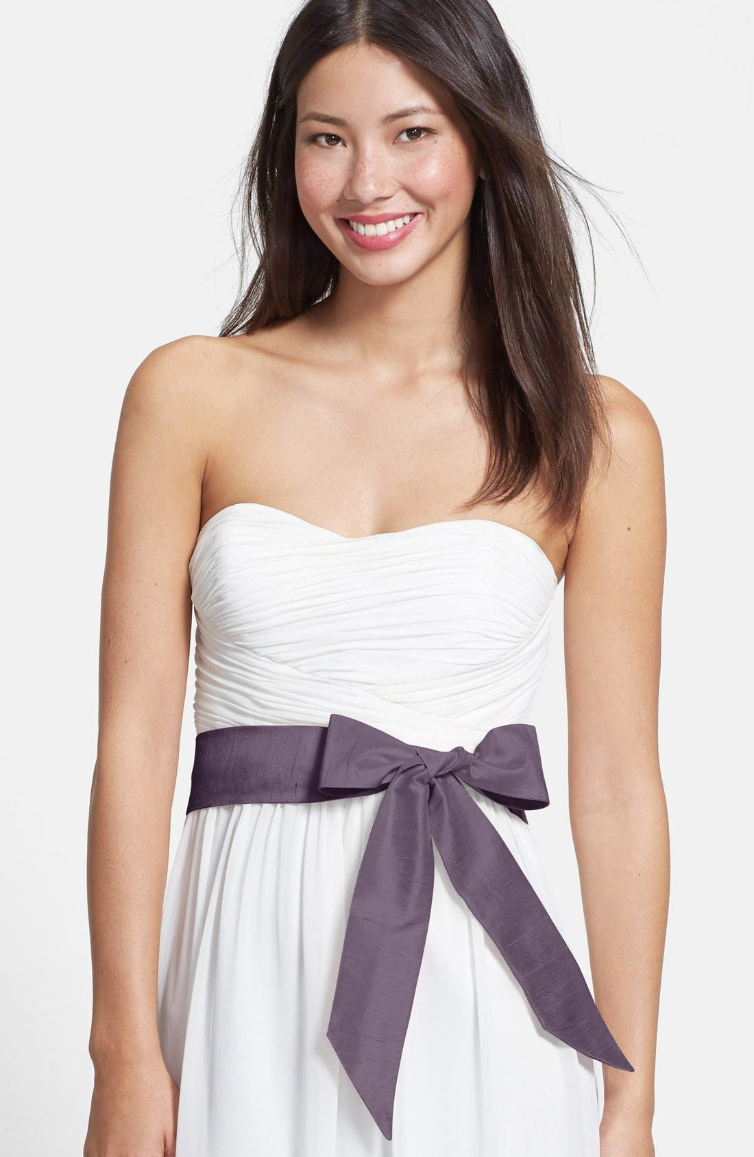 Silk Charmeuse Wide Sash,                         Main,                         color, Dusty Lavender