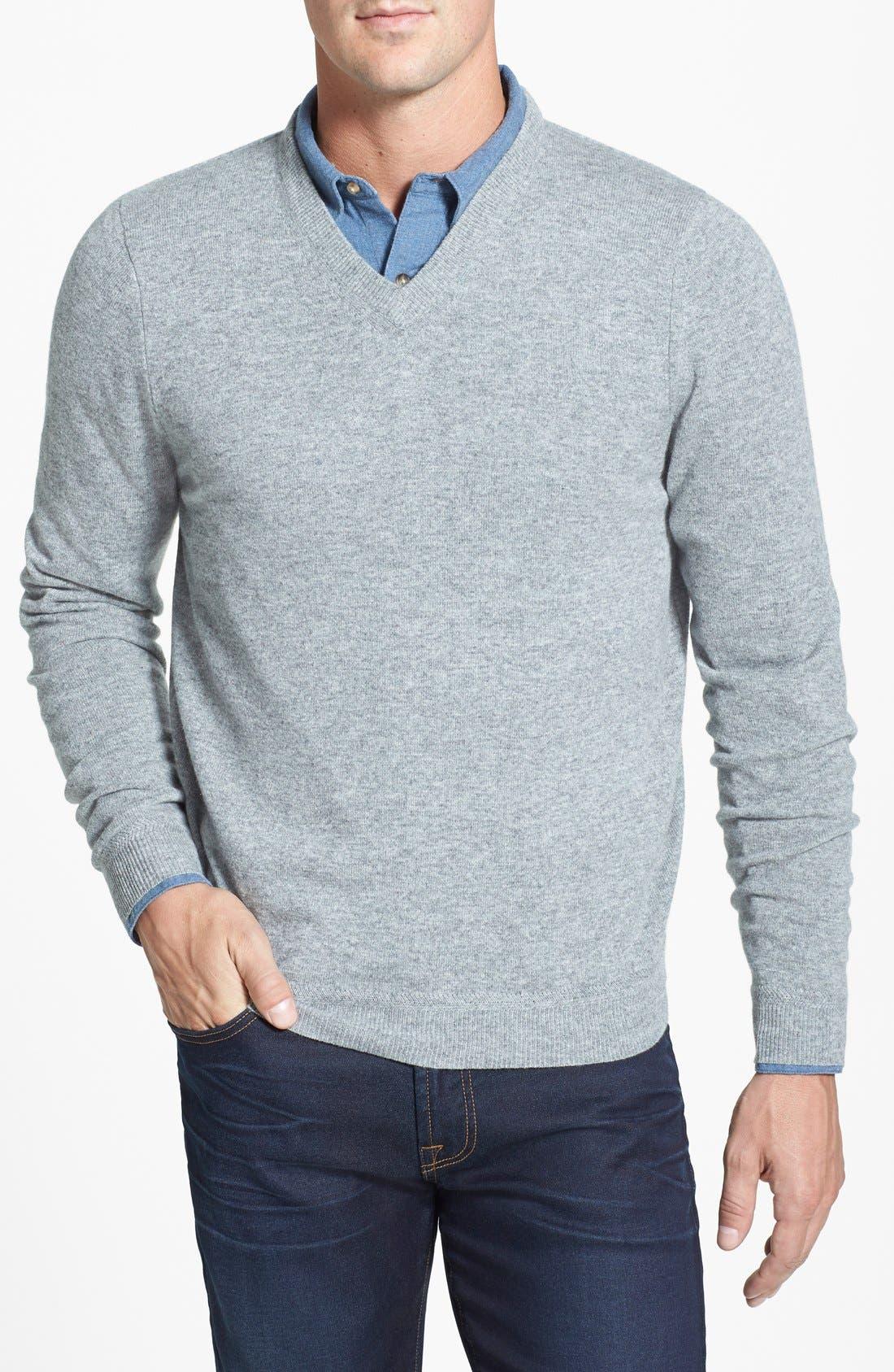 Alternate Image 1 Selected - John W. Nordstrom® V-Neck Cashmere Sweater