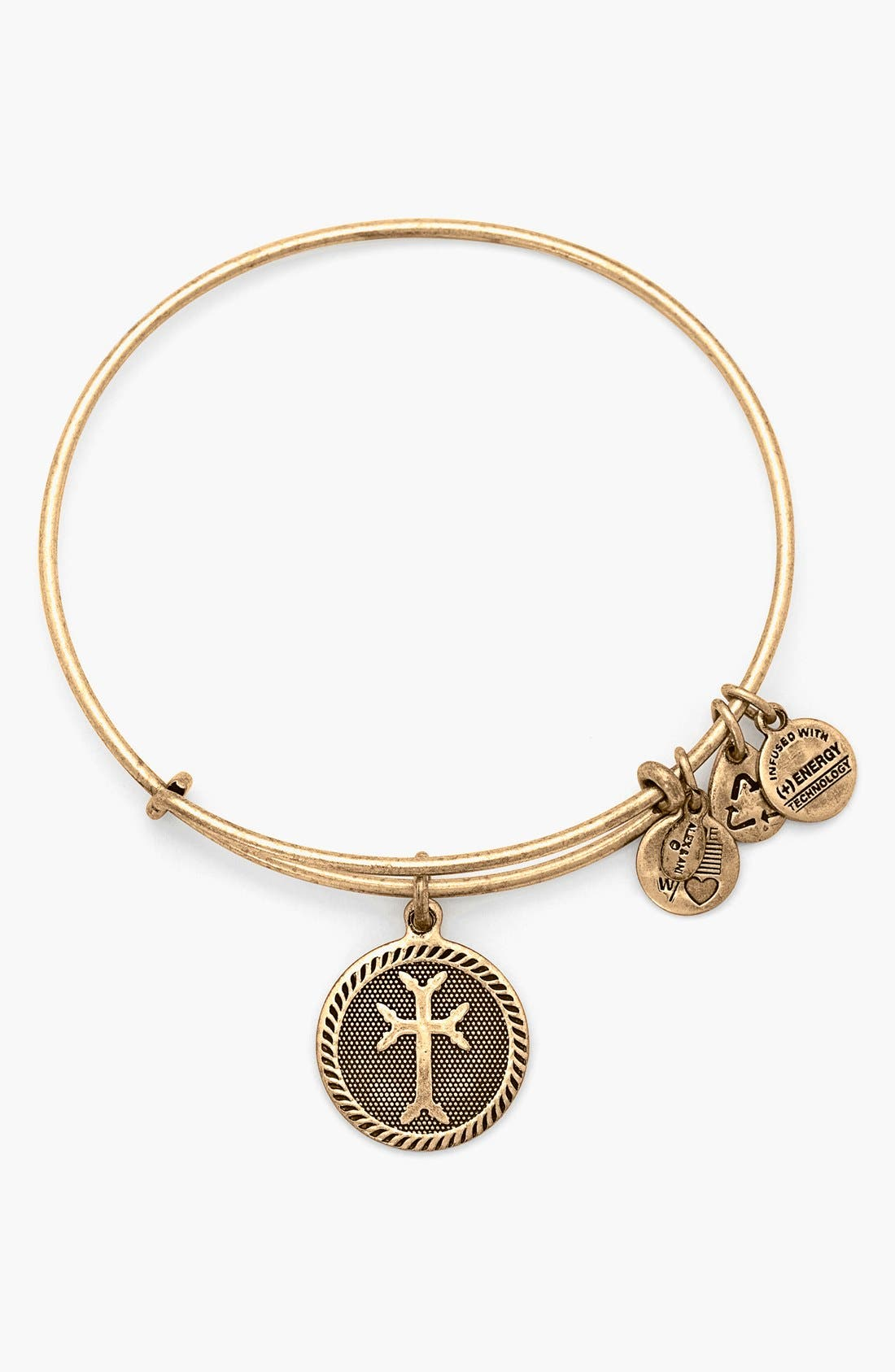 Alternate Image 1 Selected - Alex and Ani 'Armenian Cross' Expandable Wire Bangle