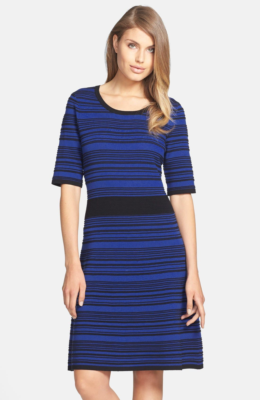 Alternate Image 1 Selected - Taylor Dresses Ribbed Sweater Dress