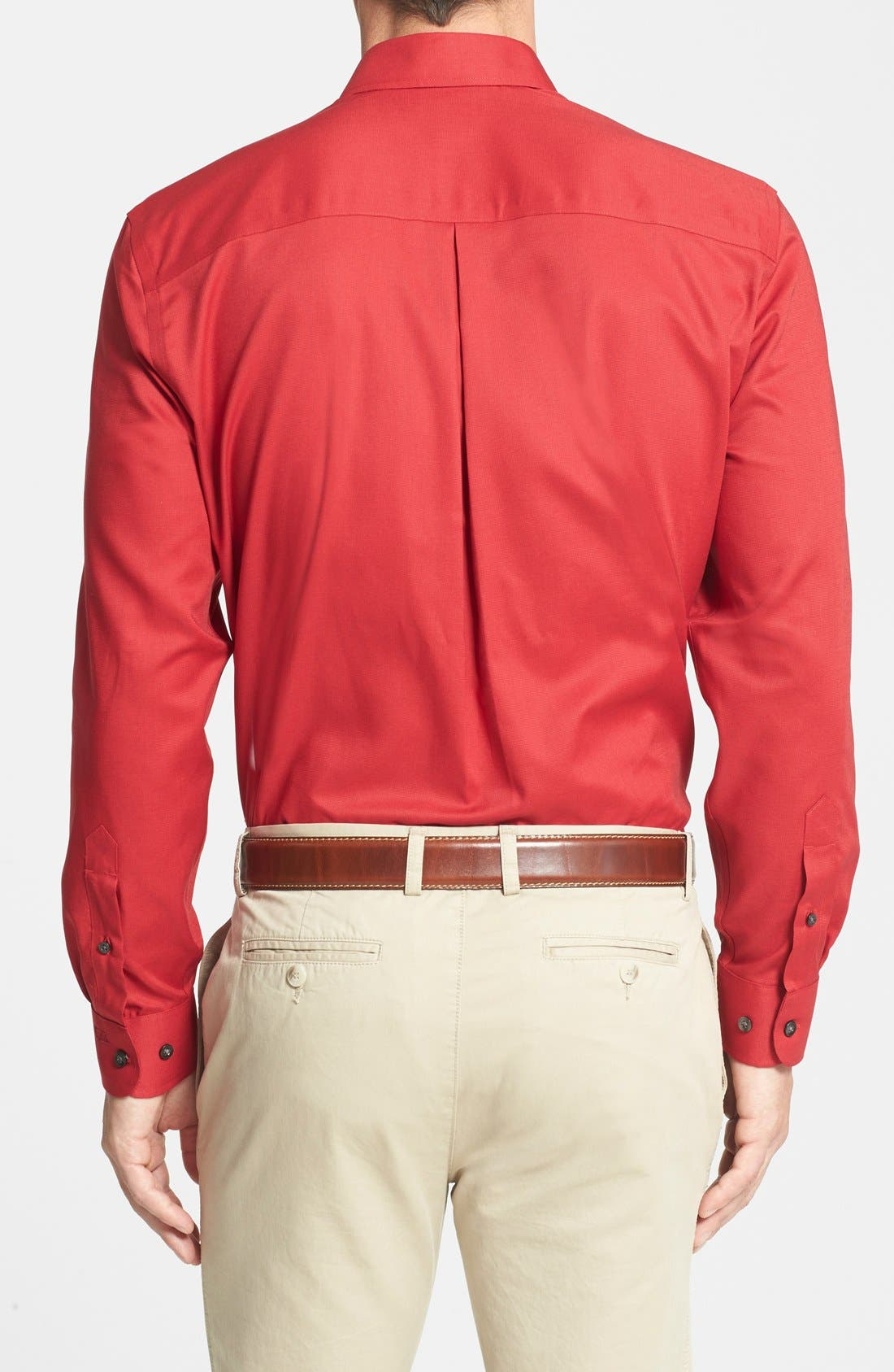 Epic Easy Care Classic Fit Wrinkle Free Sport Shirt,                             Alternate thumbnail 2, color,                             Cardinal Red