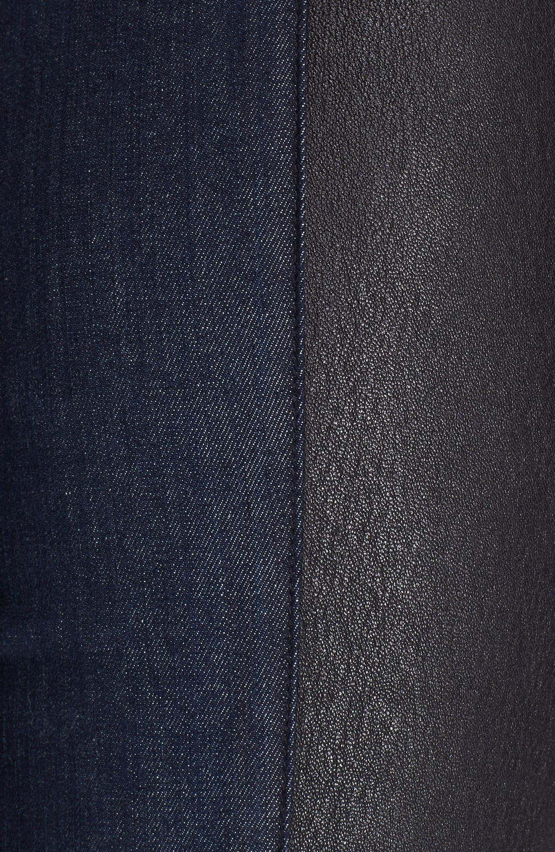 Alternate Image 3  - Helmut Lang Leather & Denim Leggings