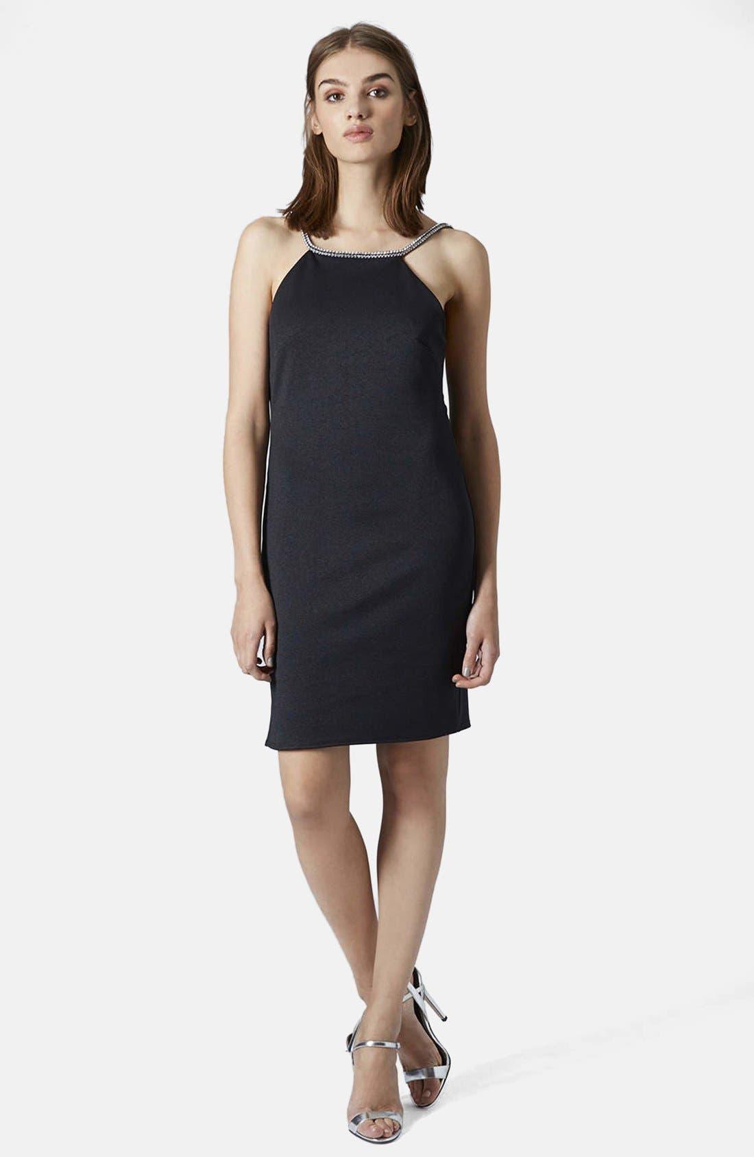 Main Image - Topshop 'Diamante' Embellished Body-Con Dress