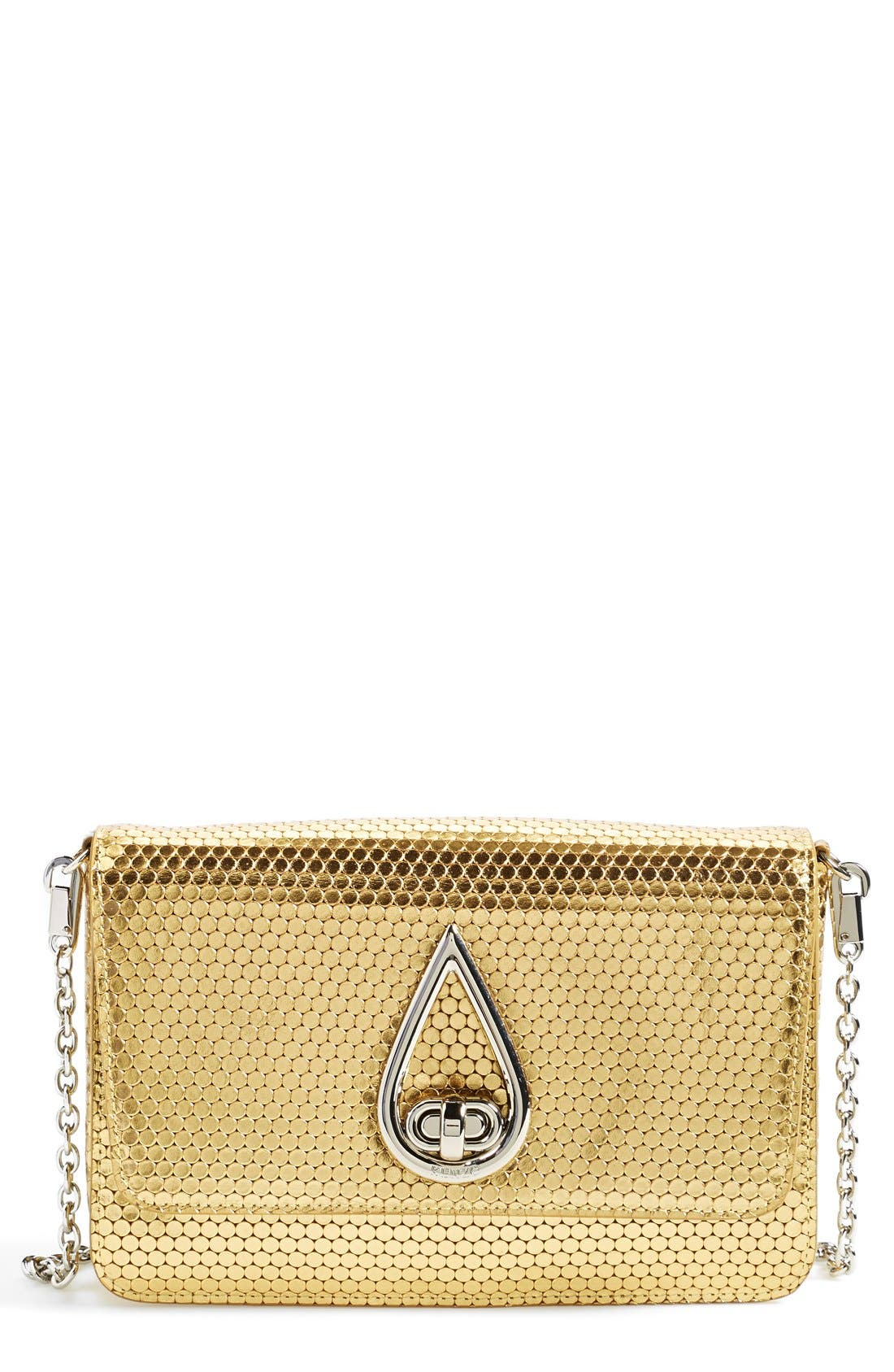 Main Image - KENZO 'Raindrop' Metallic Leather Shoulder Bag