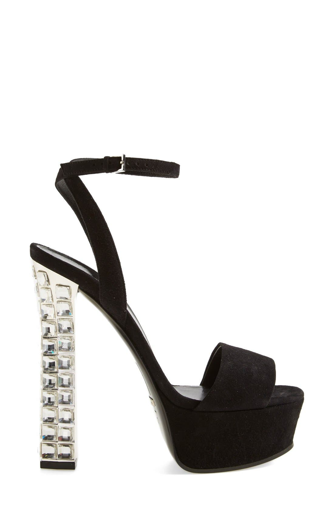 Alternate Image 4  - Gucci 'Leila' Jeweled Heel Platform Sandal (Women)