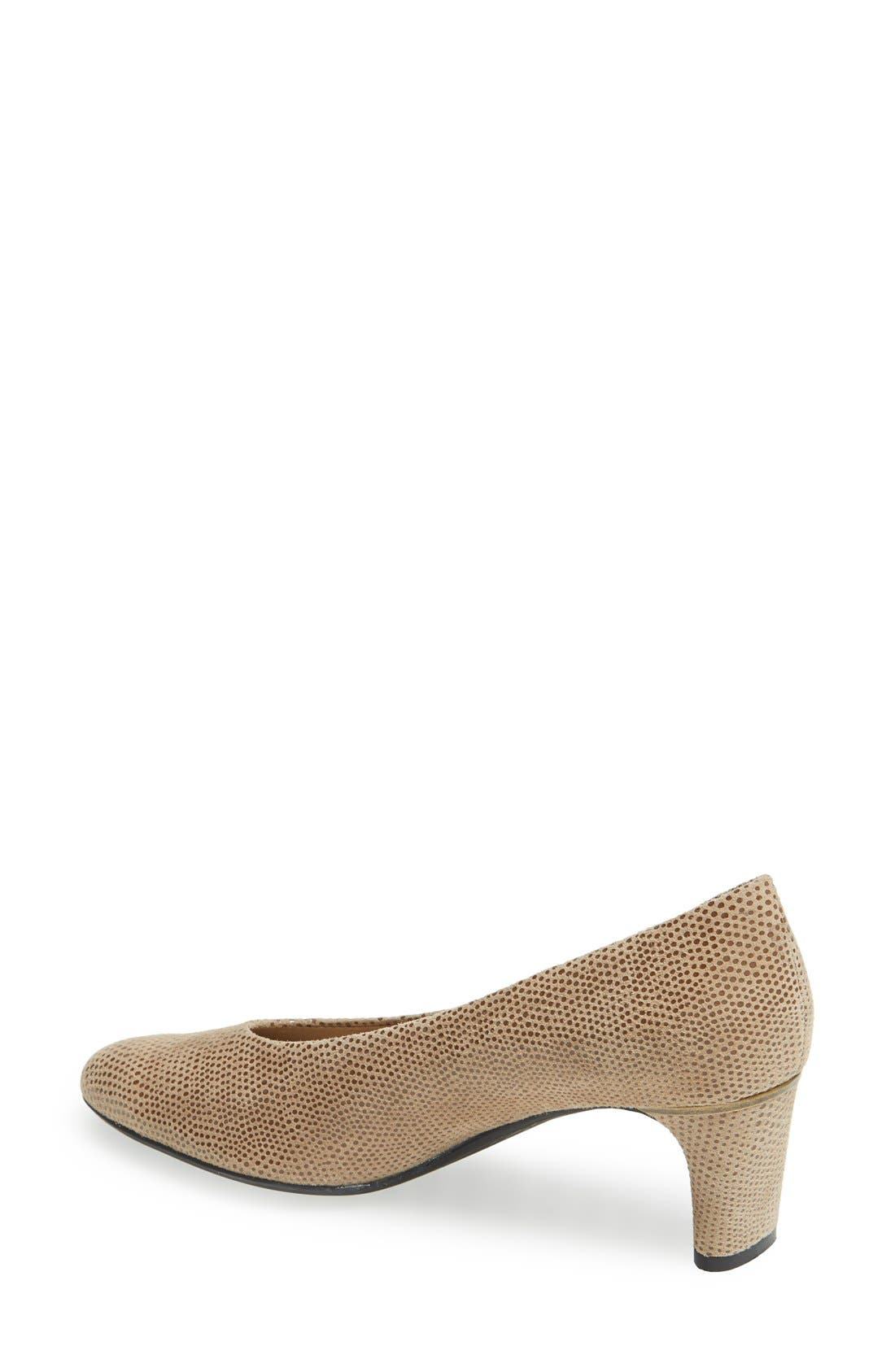 'Dayle' Pump,                             Alternate thumbnail 2, color,                             Taupe Print Leather