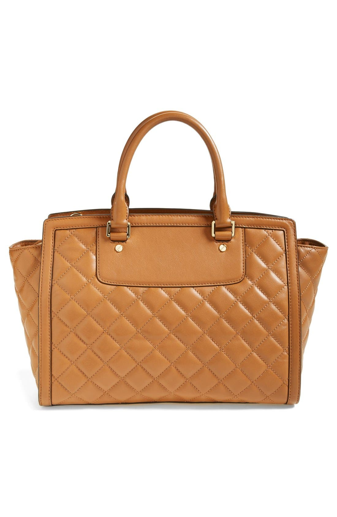 Alternate Image 4  - MICHAEL Michael Kors 'Large Selma' Quilted Leather Satchel