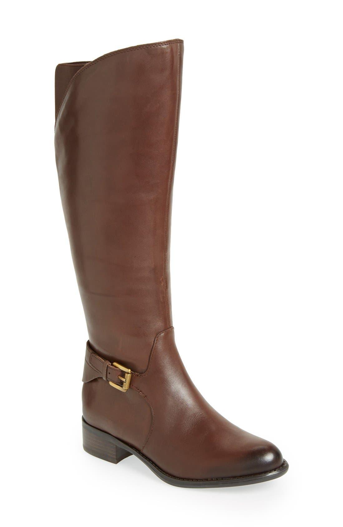Alternate Image 1 Selected - Franco Sarto 'Craze' Knee High Leather Boot (Women)
