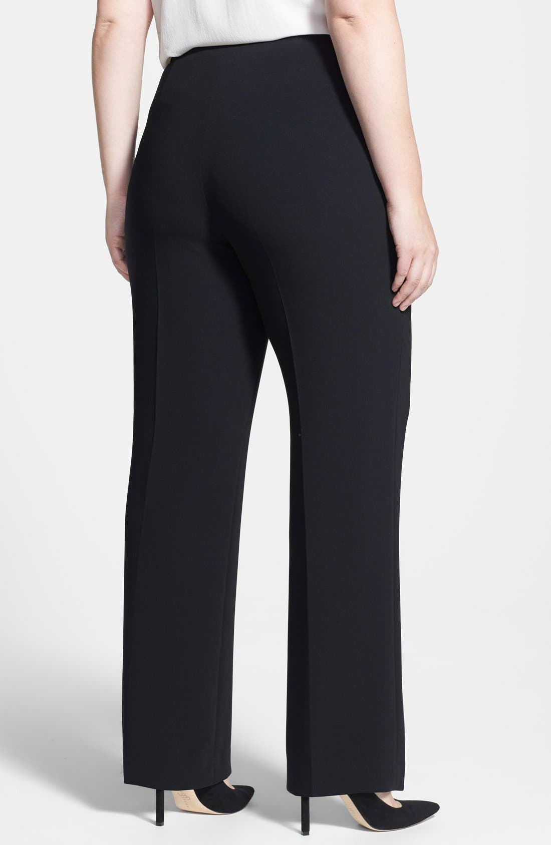 Alternate Image 2  - Louben Straight Leg Pants (Plus Size)