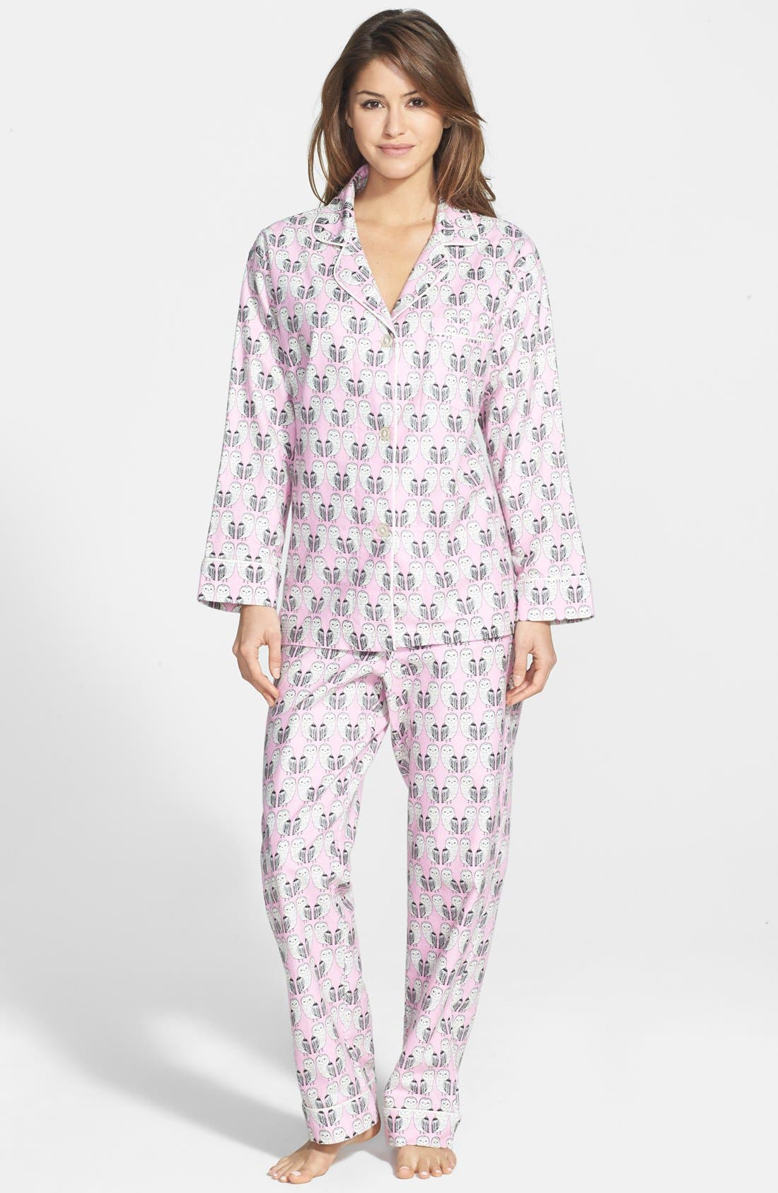 Alternate Image 1 Selected - BedHead Notch Collar Flannel Pajamas