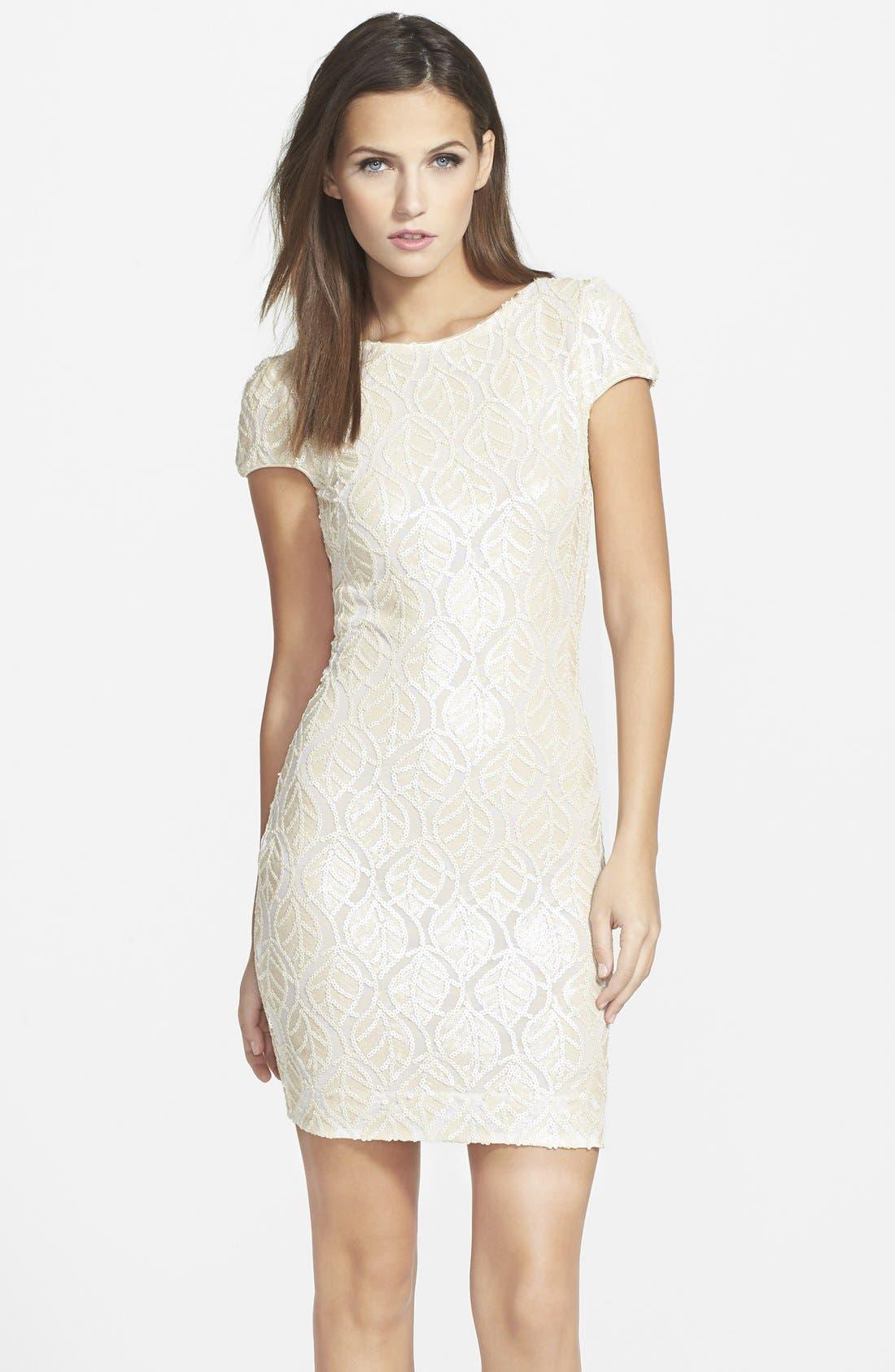 Alternate Image 1 Selected - Dress the Population 'Tabitha' Sequin Minidress